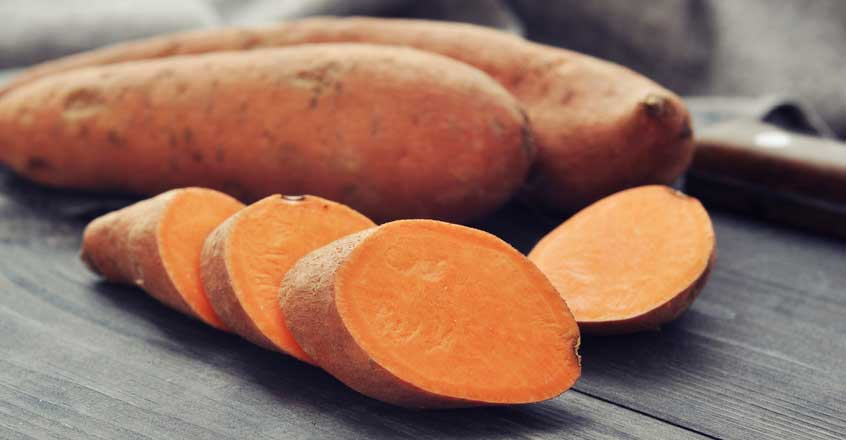 Sweet Potatoes   Carbs may get a bad rap but truth be told,  we need 'em  to thrive.  I mean, how else do you expect to get through all of those high knees in class?  Sweet potatoes aren't just loaded with starchy deliciousness they're extremely  versatile in the kitchen, easy to prepare, and CHEAP AF . One medium sweet tater contains enough eye health-boosting vitamin A to meet your daily quota, tons of immune-boosting vitamin C, plus more potassium per serving than a banana and almost 20% of your daily fiber needs! Aside from being absolutely delicious, why do you think  sweet potato toast  has taken over the internet?!