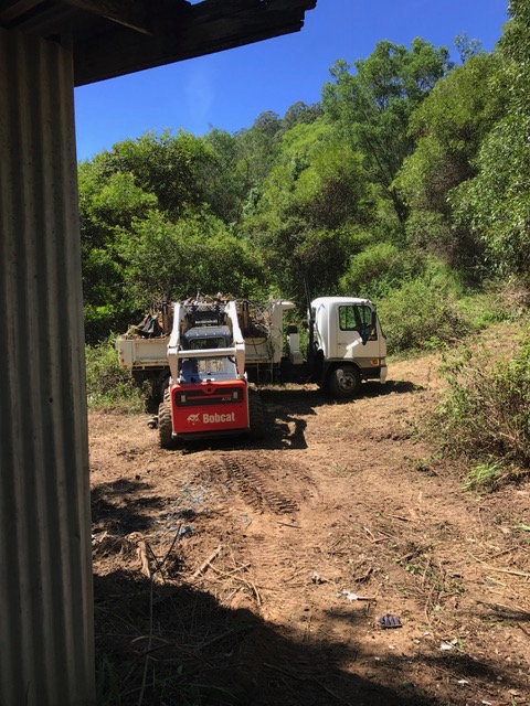 the Bobcat and tipper truck combo - works a treat!