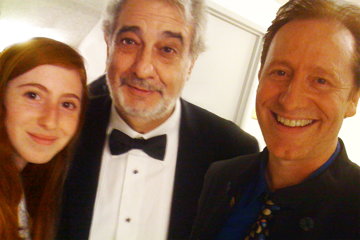 Placido Domingo has been a friend of Fiona's since she was 5 yrs old.