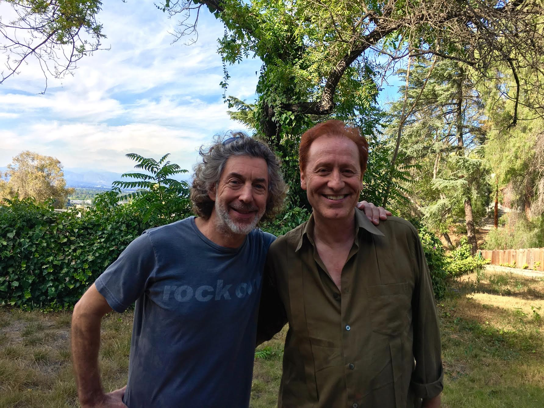 Craig with Simon Phillips, drummer of Toto.