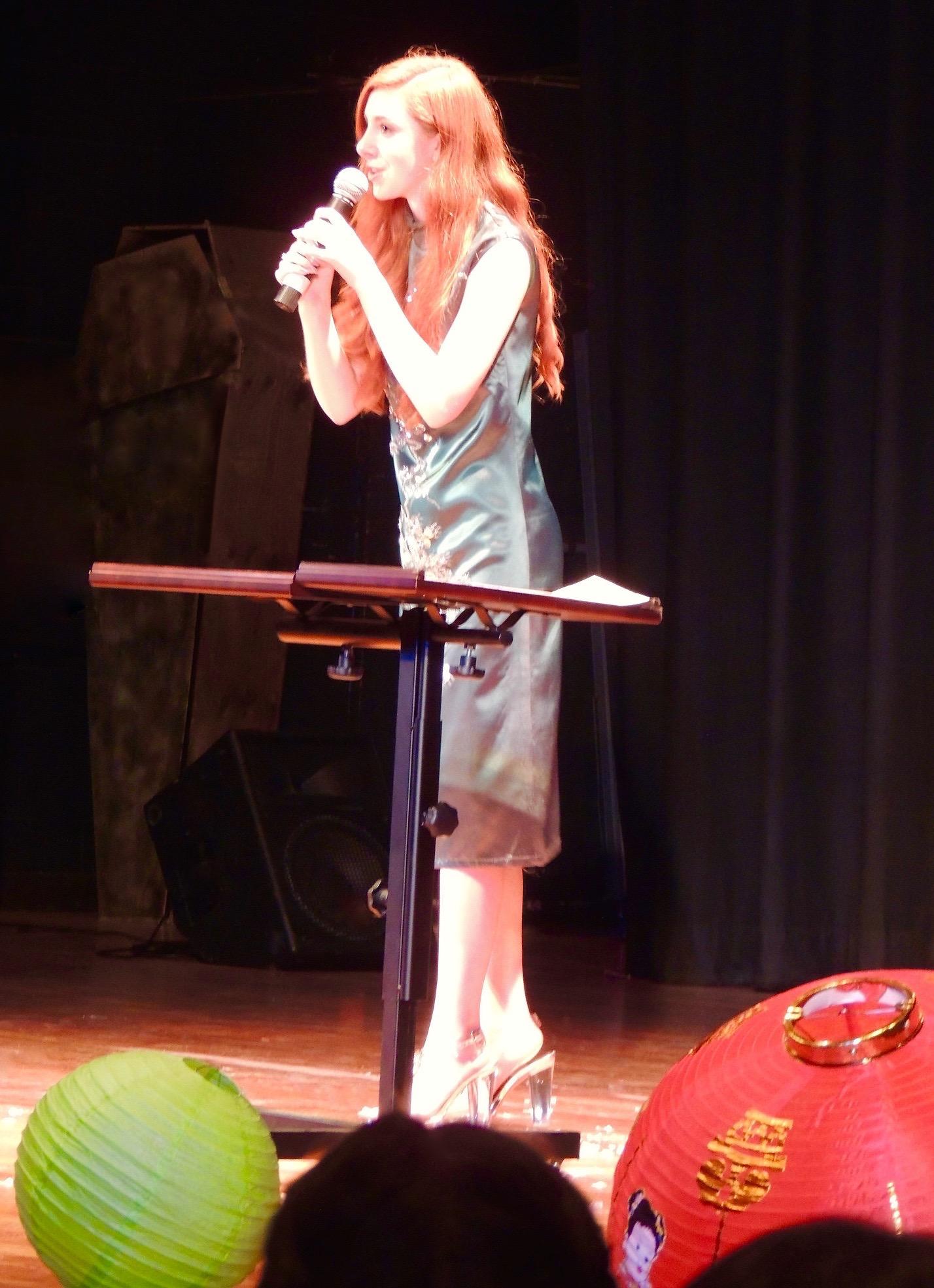 Fiona speaking in Mandarin @ Chinese New Year event