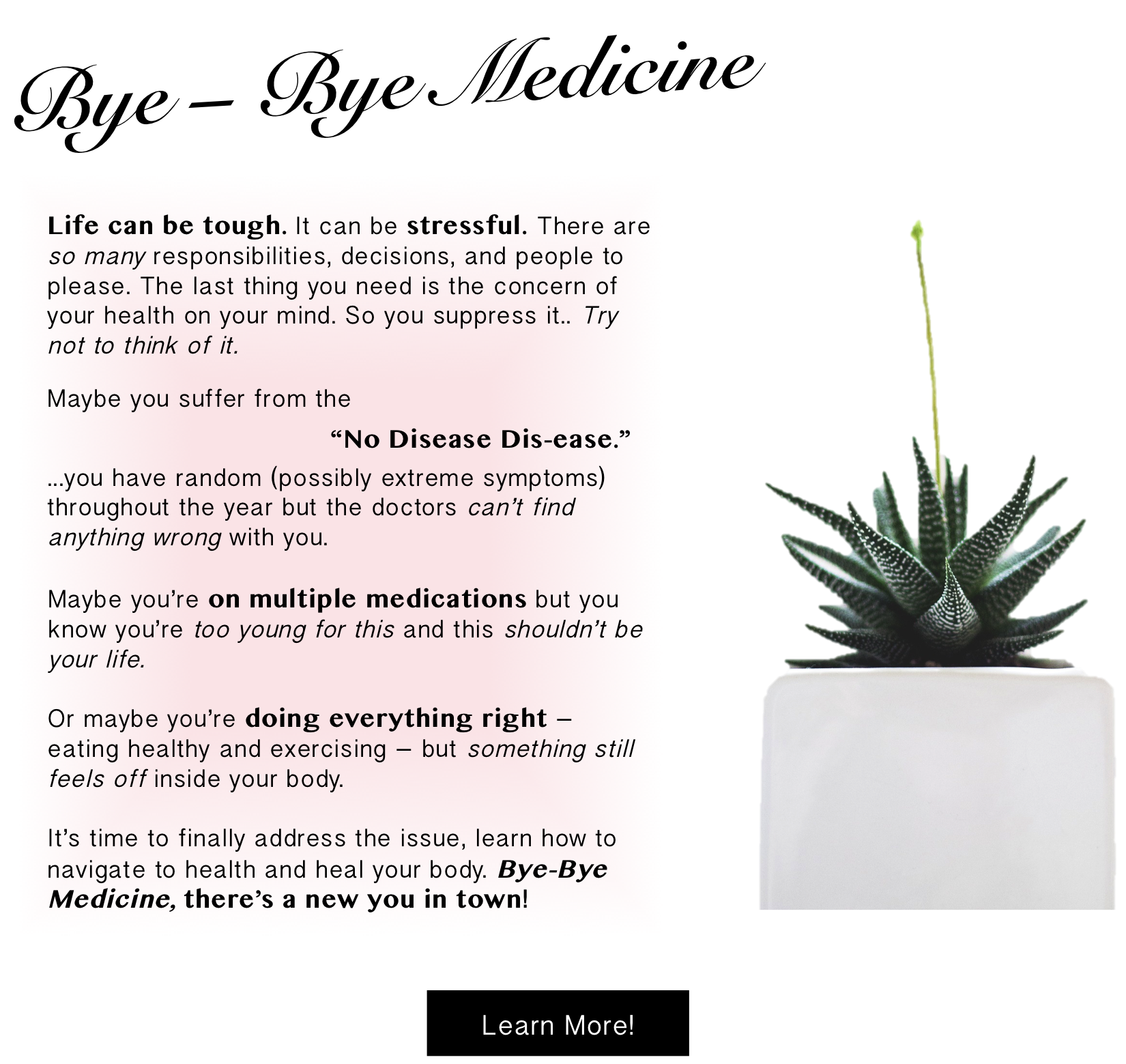 Bye-Bye Medicine Healing Program