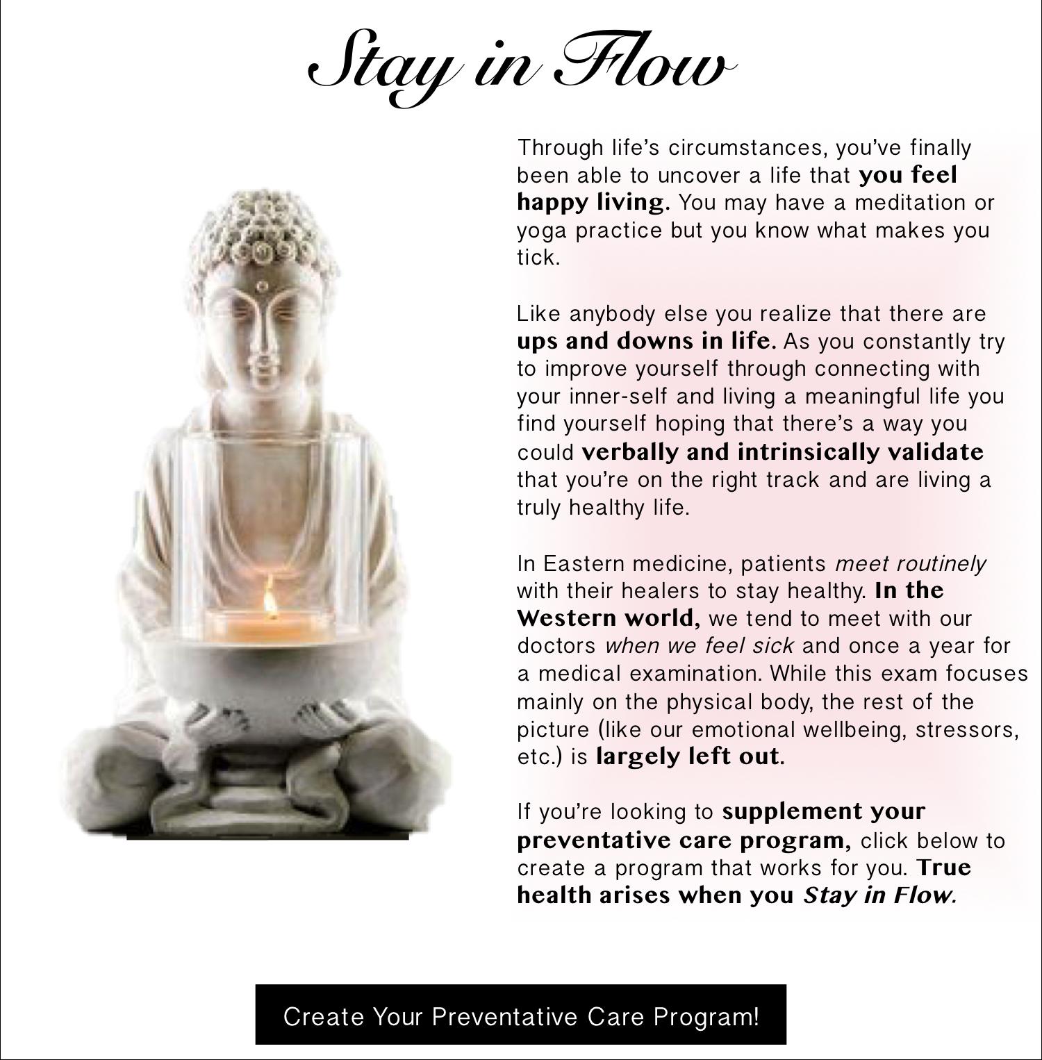 Stay in Flow Preventative Care Program