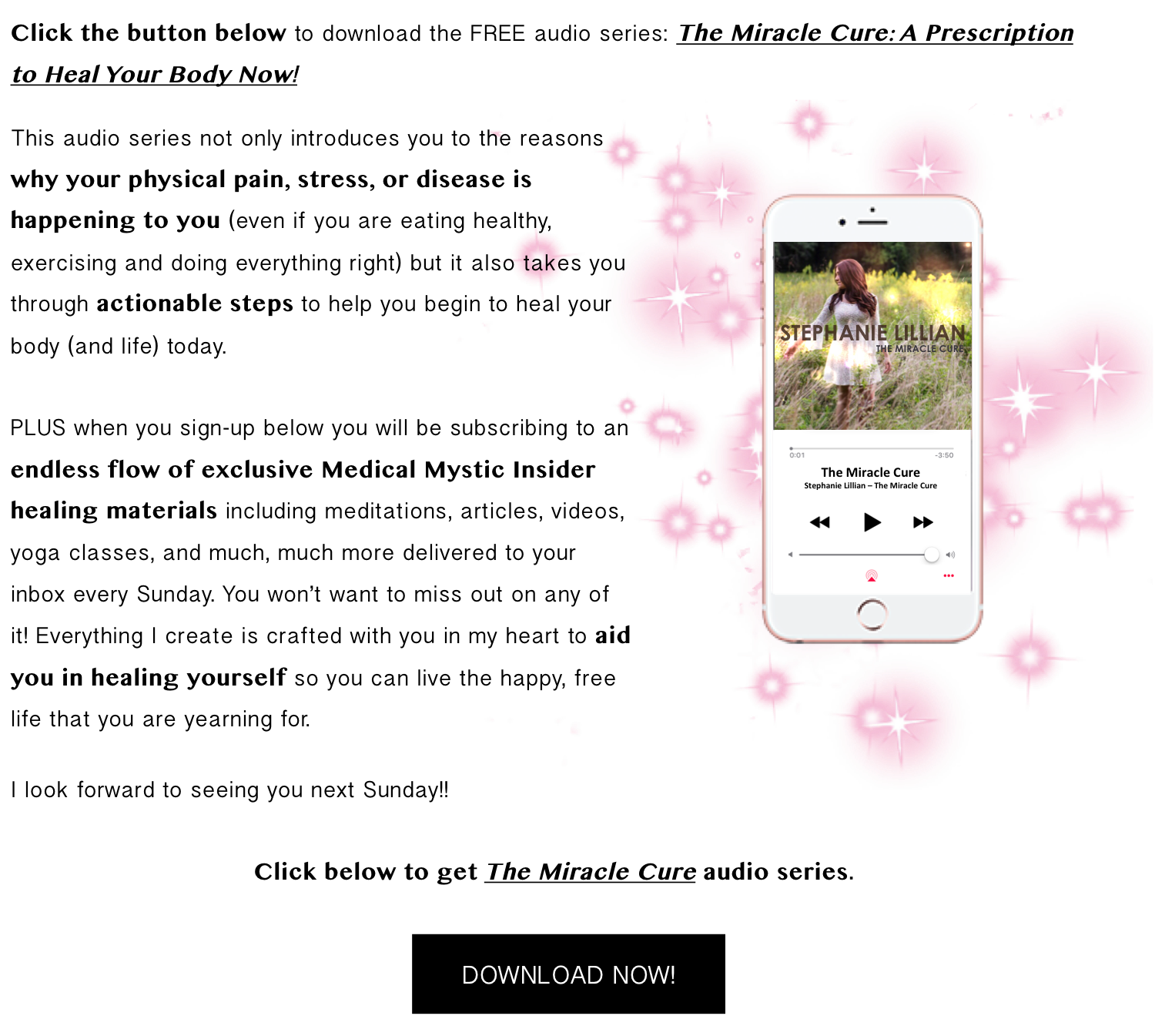 The Miracle Cure Audio Series
