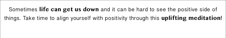 Meditation for a Positive Mind