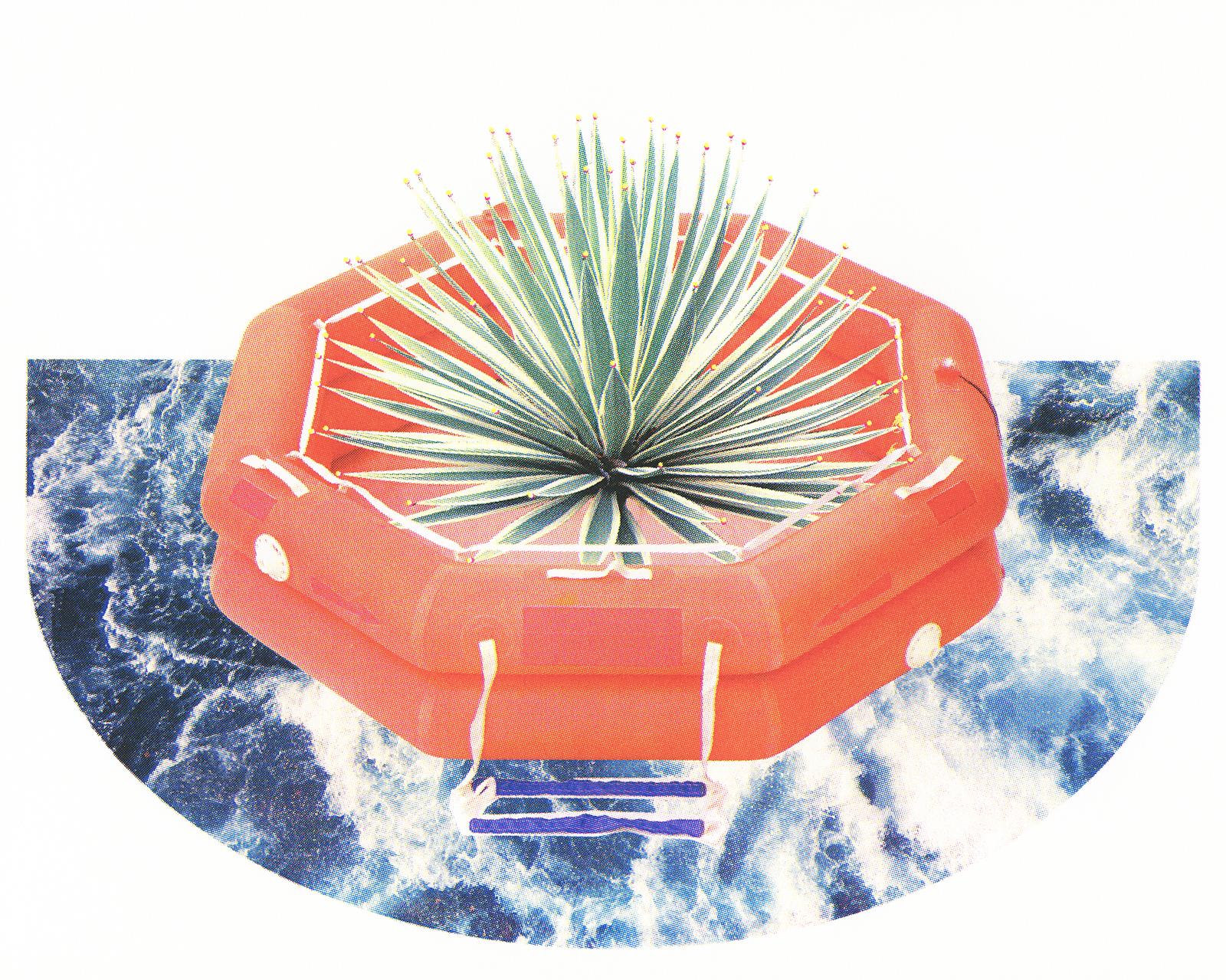 - Aqua Culture2016Screen print with fluorescent pigment15 x 20 inchesedition of 24