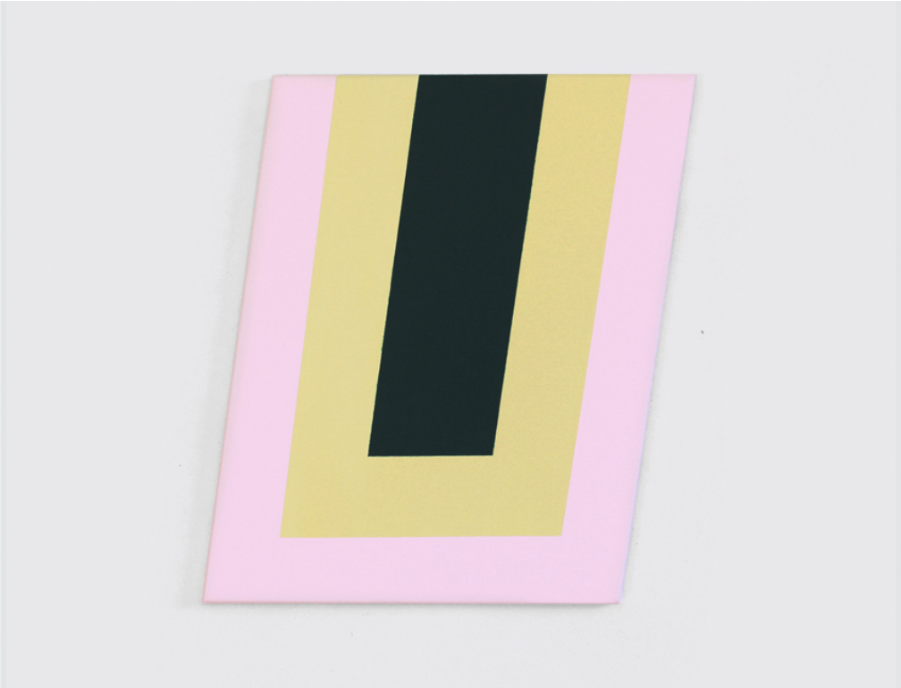 - Elements: Black, Gold, Pink2015Acrylic on canvas20 x 15 3/4 inches