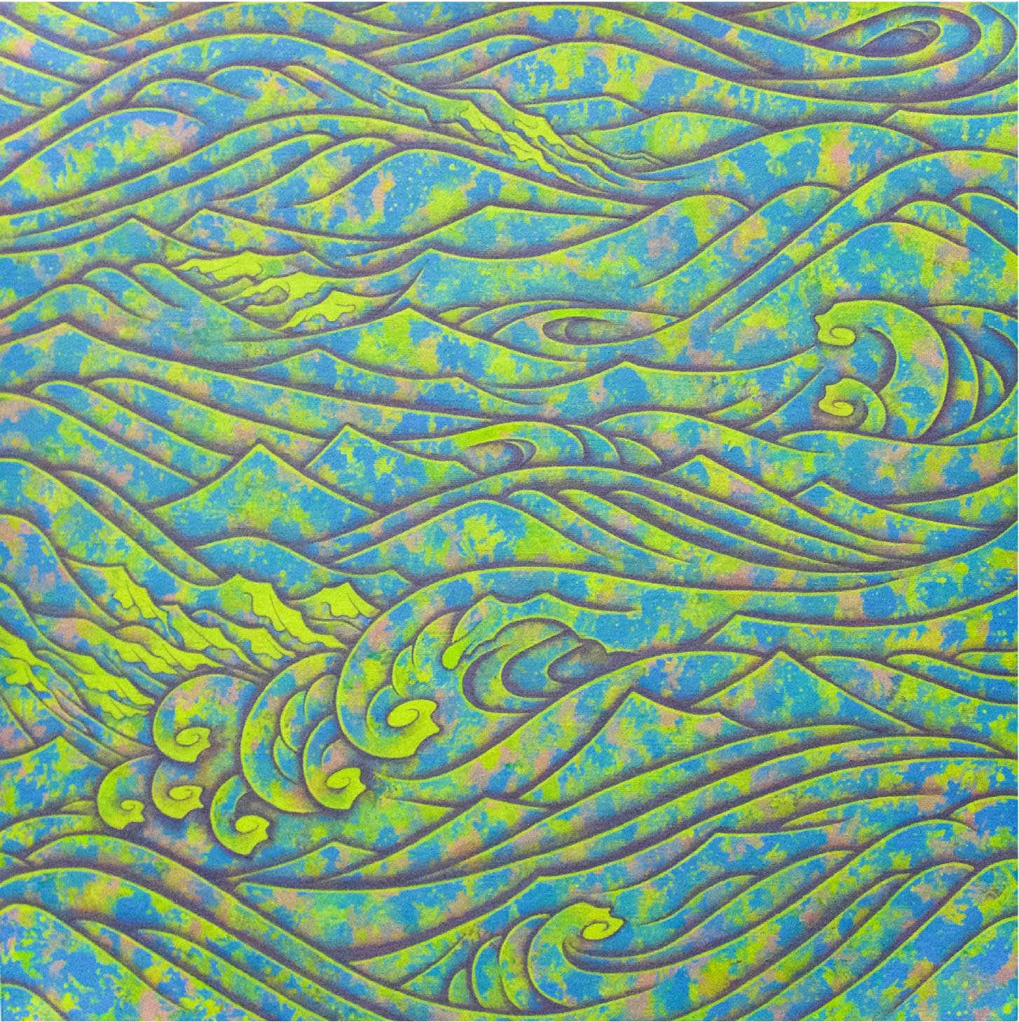 - Herakleiotos 072018Acrylic on canvas16 1/4 x 16 1/4 inches