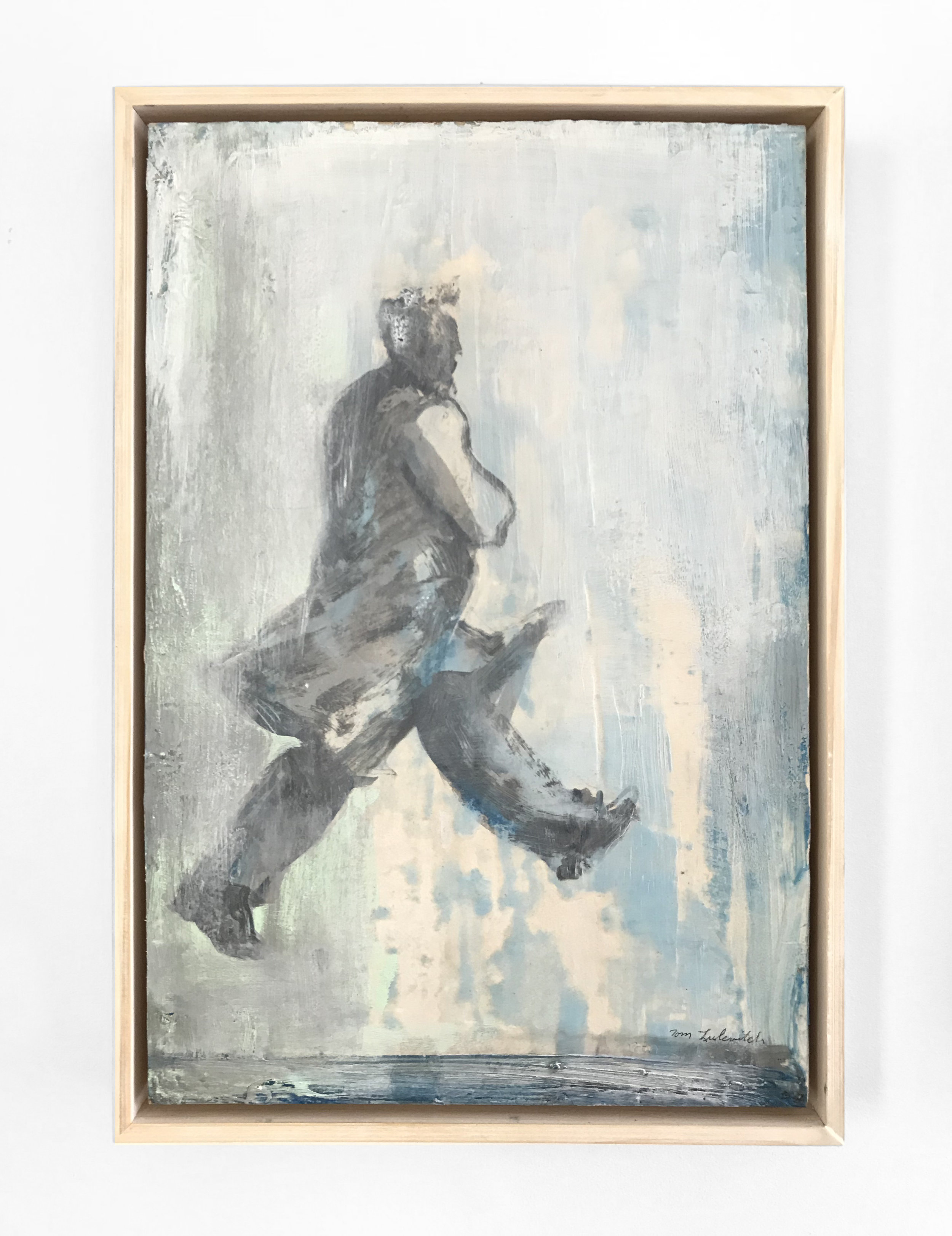 - Tom LulevichUntitled2018Oil & encaustic on wood panel, framed18 x 12 inches