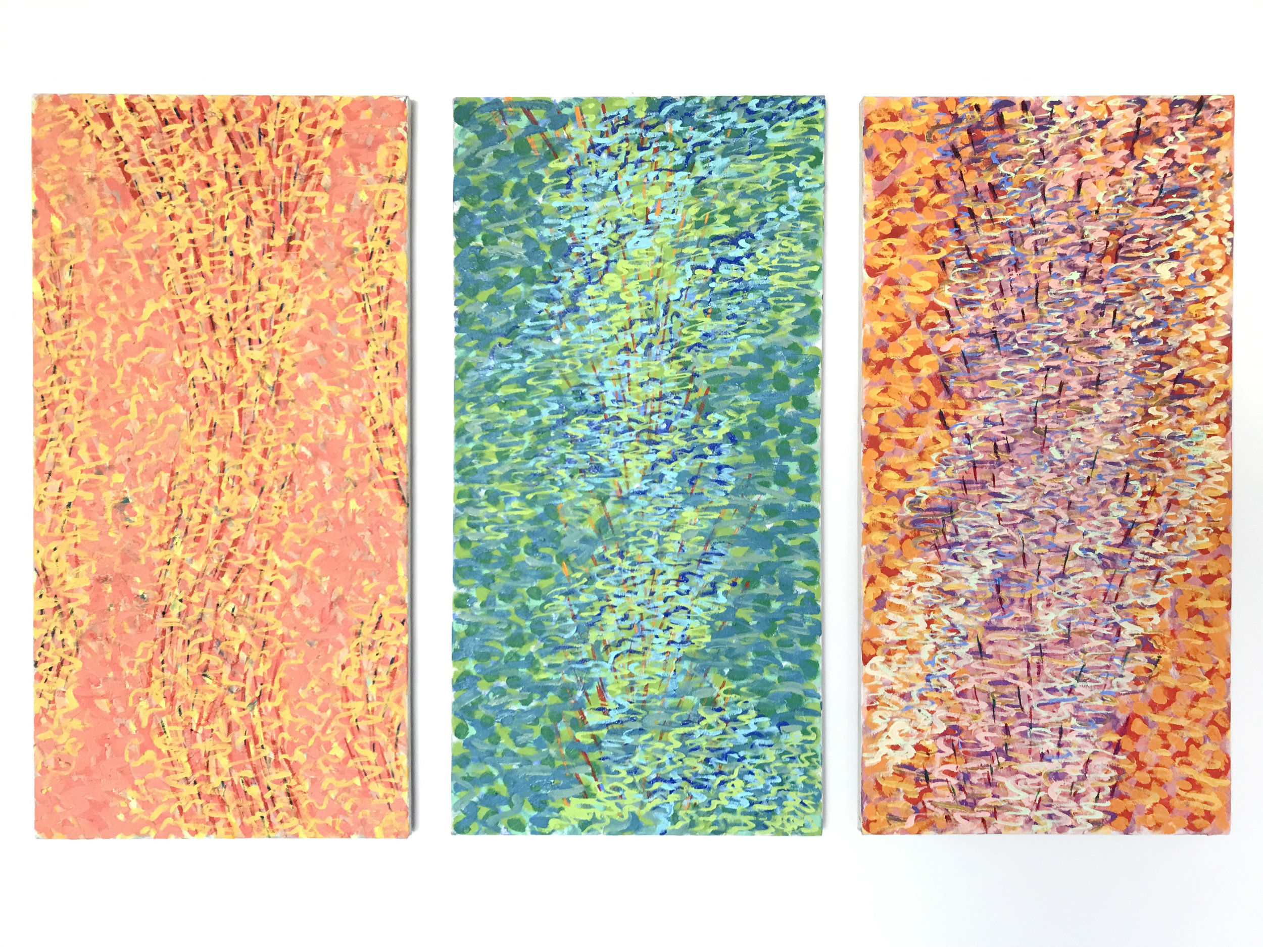 - Dena ZemskyThank You, Bill Evans2018Oil and on canvas in 3 parts36 x 18 inches each36 x 54 inches overall