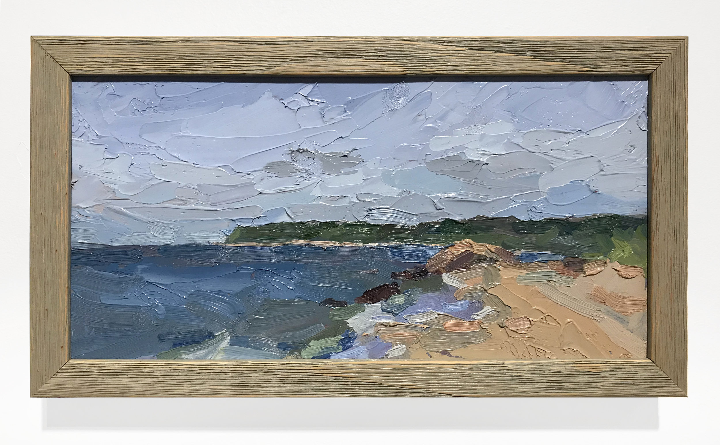 - Amy WorthSoundview in June2018Oil on board in artist's frame7 x 13 inches