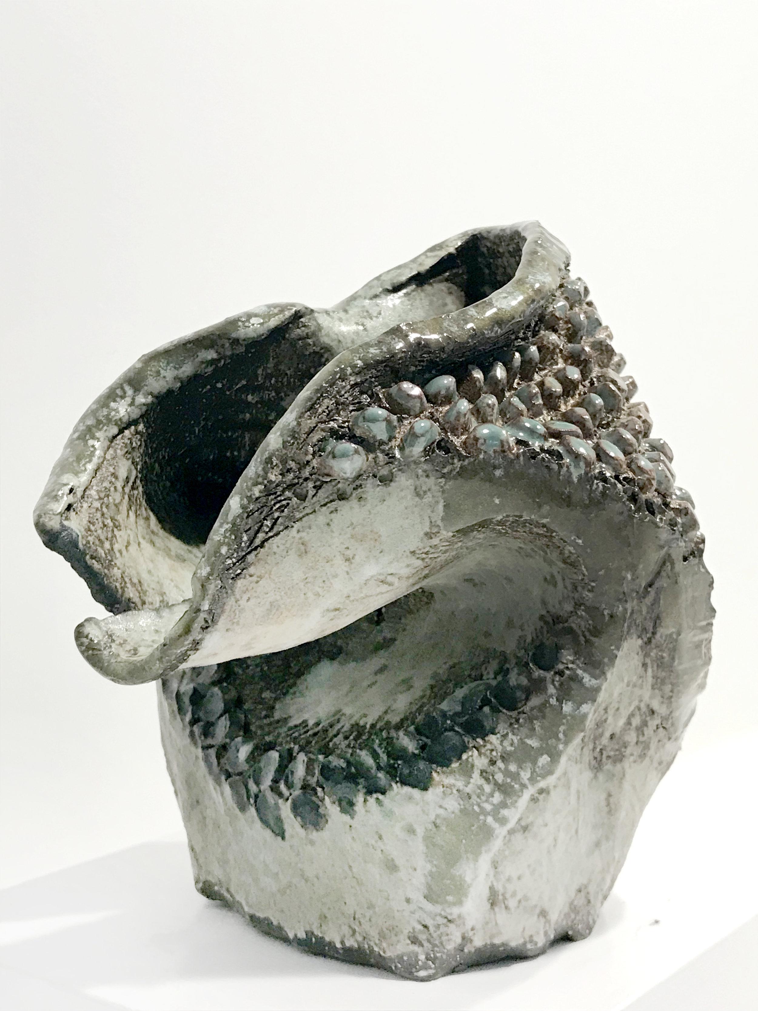 - Dena ZemskySculptural Vessel2018Glazed stoneware5 3/4 x 5 1/2 x 5 inches