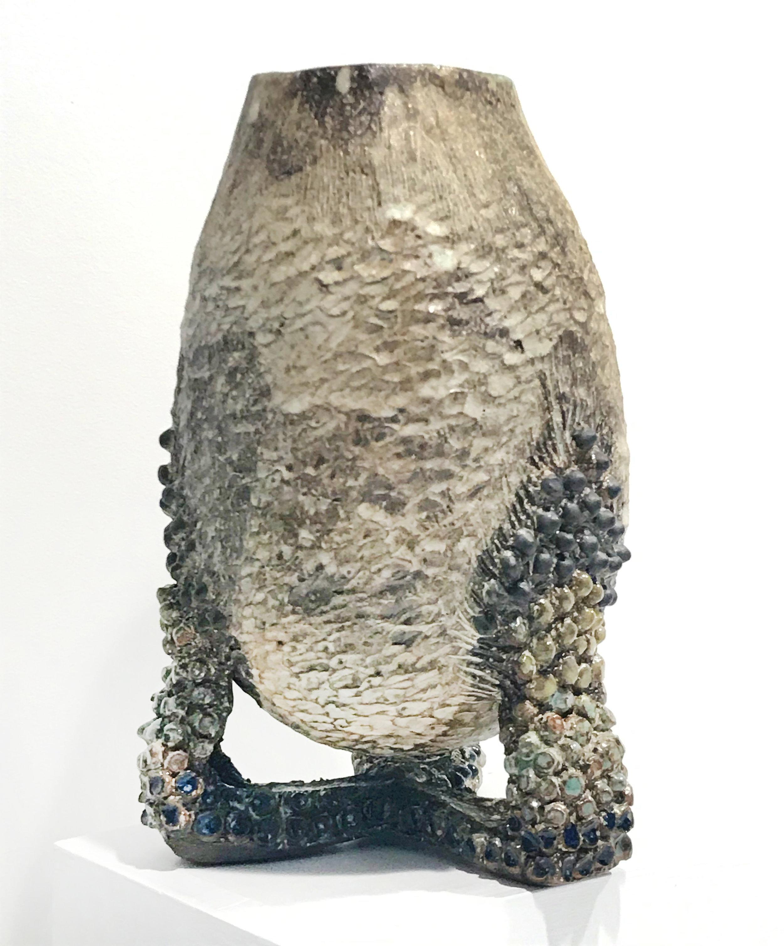 - Dena ZemskyTri-footed Vessel2018Glazed stoneware9 x 6 x 6 inches