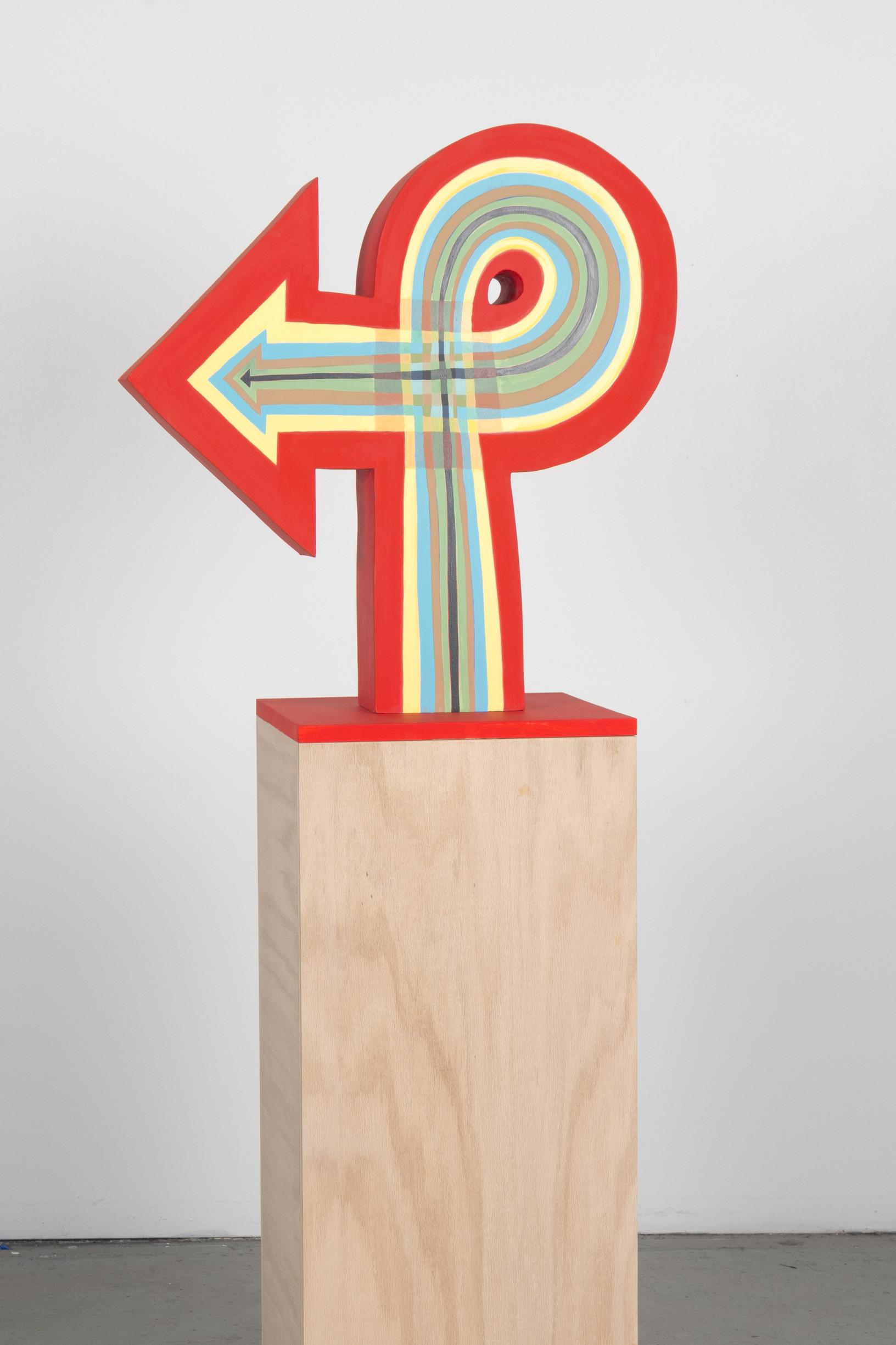 - Blended Arrow2013Gouache on solid poplar23 x 23 x 5 inches