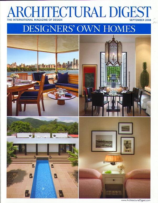architectural digest   designer's own homes