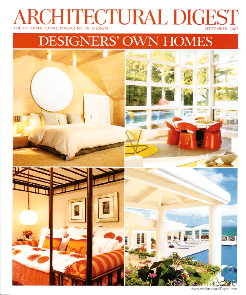 architectural digest   designers own homes