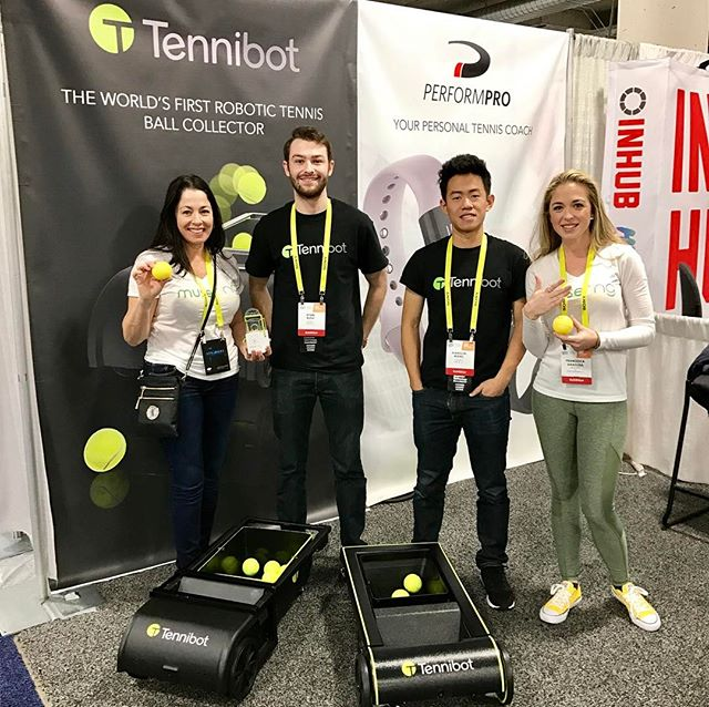 #CES2017 Day 4: we loved getting to know @tennibot! Wishing you the best! 🎾