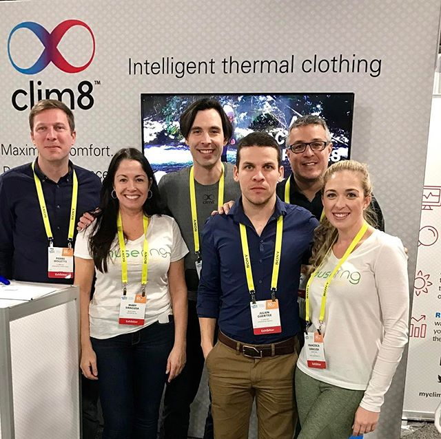 #CES2017 Day 4: so great to meet the #clim8 team!