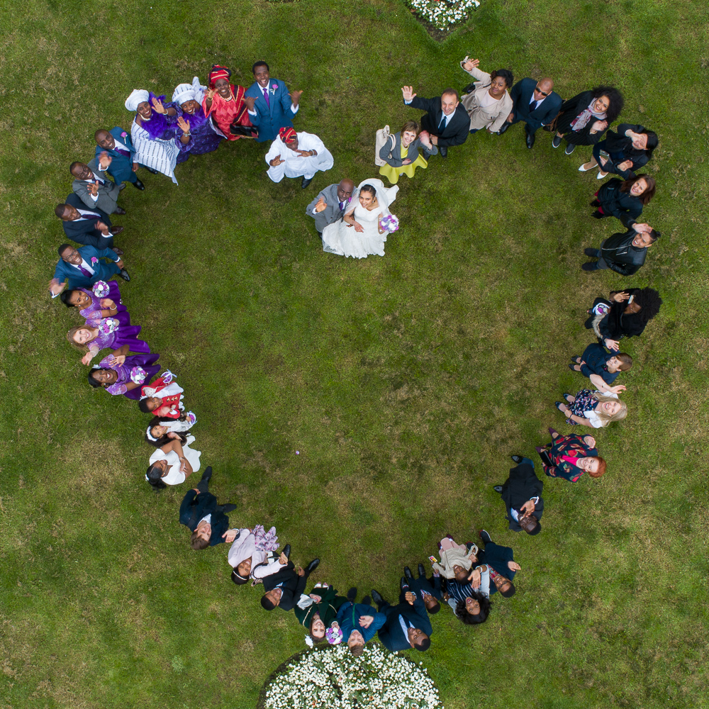 London Drone Wedding Photography shot by Hunte Aerial Owen Hunte