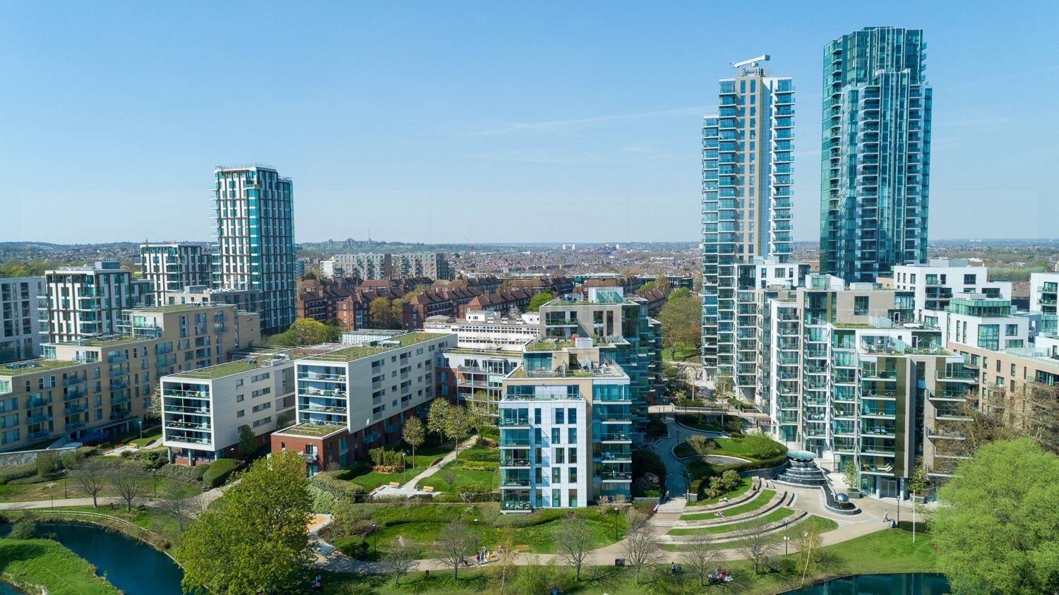 Woodberry Down Development by Drone Photographer OD Hunte ©2018 Hunte Aerial