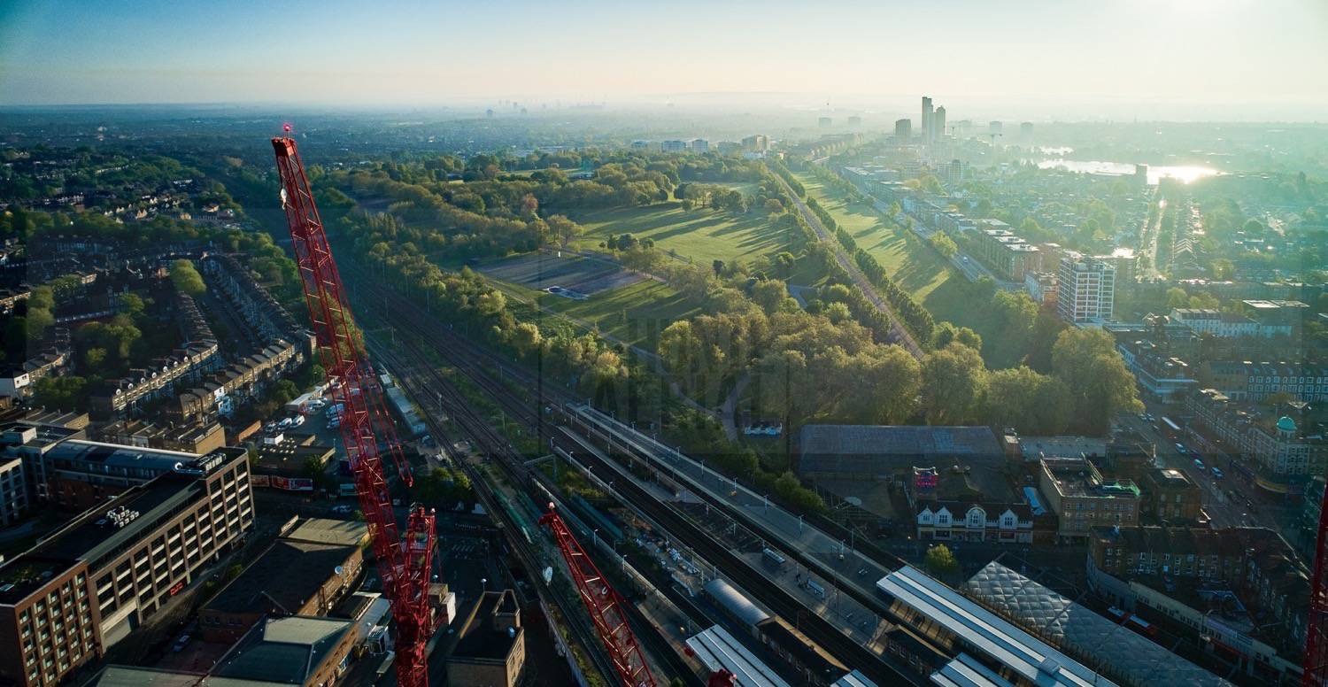 Finsbury Park Overview by Drone Photographer OD Hunte ©2018 Hunte Aerial