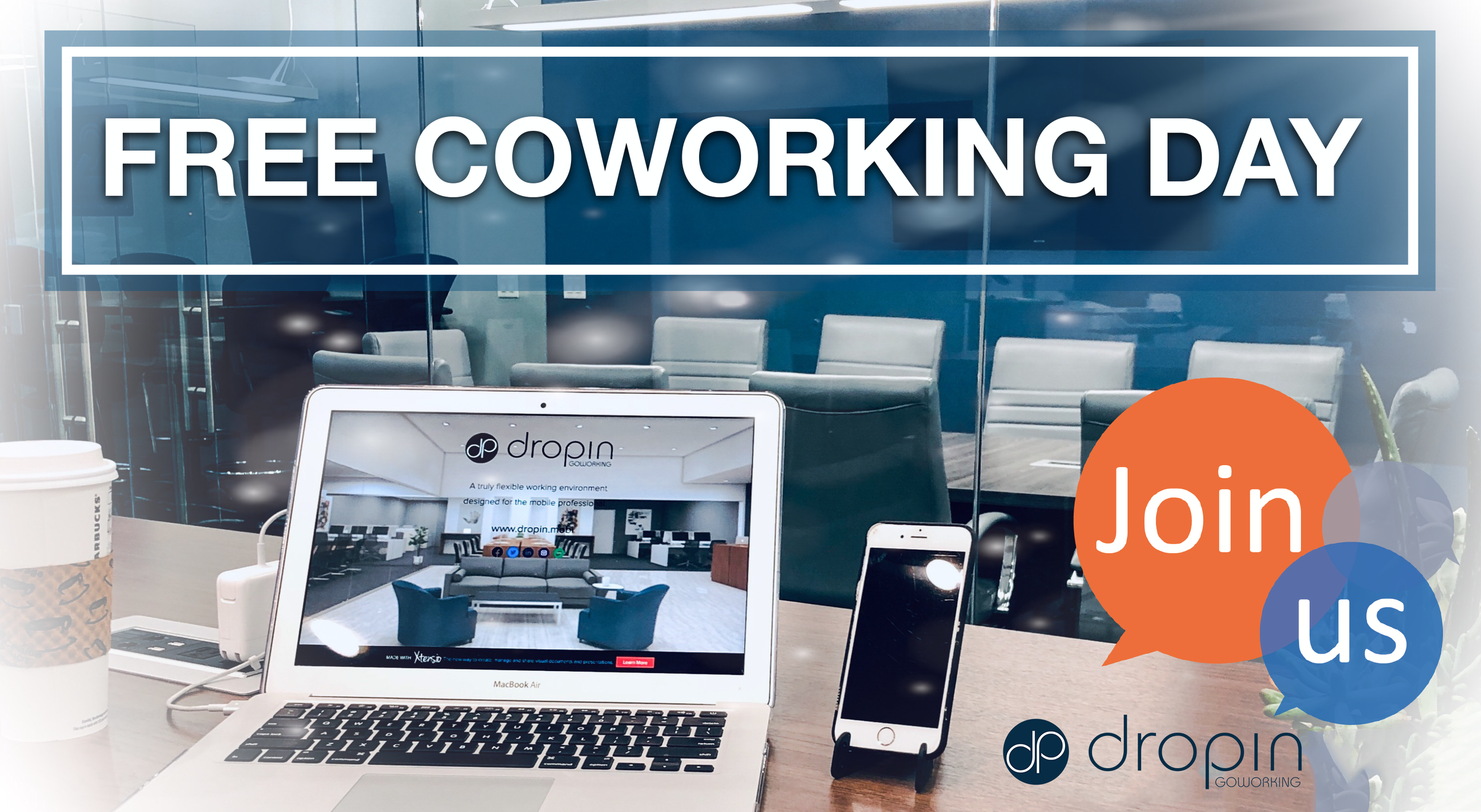 Friday, September 6 7am-10pm - Have you ever wondered what it is like to work at dropin, a professional coworking/goworking shared office space? Or are you curious what a difference super fast secure 250 Mbps Wi-Fi fiber internet makes when using cloud-based applications or uploading or downloading important files you need for work?