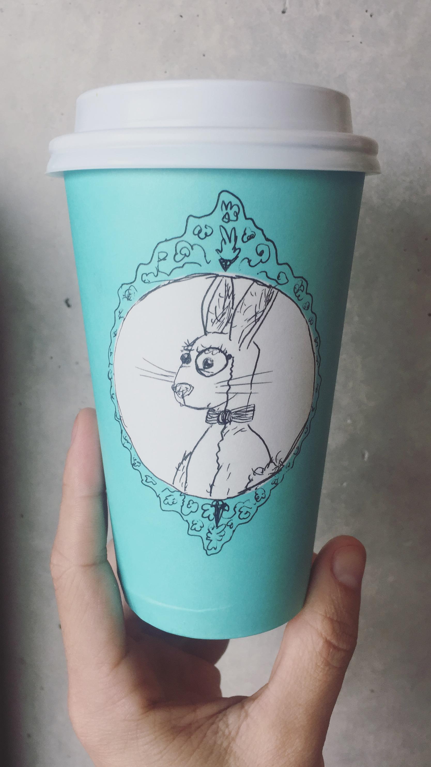 star bucks blue spring cup