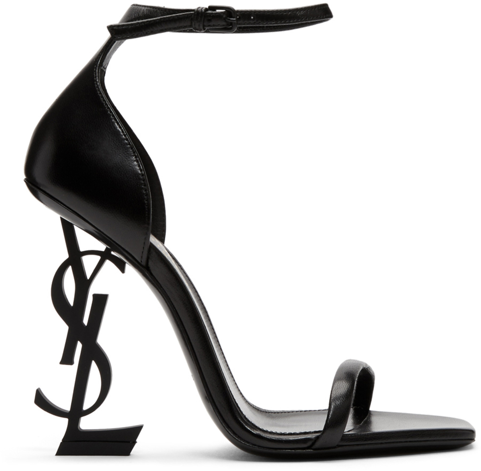Saint Laurent Black Opyum Heeled Sandals