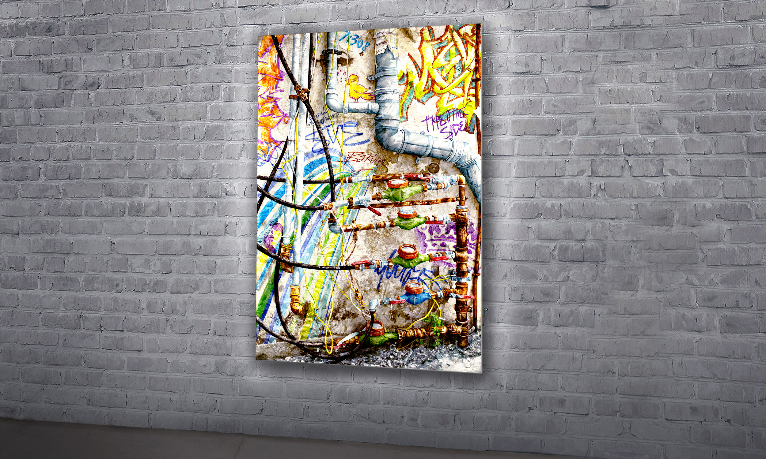 "the other side  / 54"" X 36"" / SOLD"