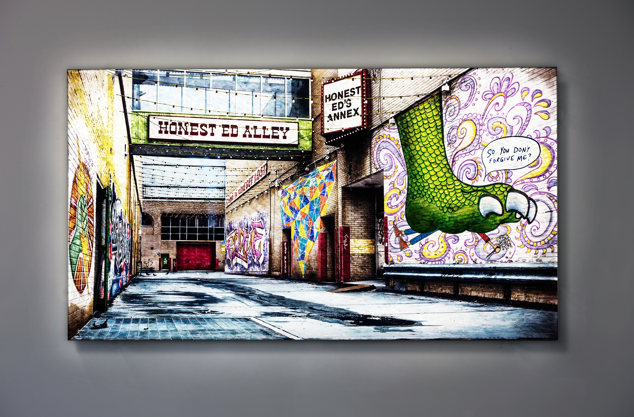 "thanks gordie baby  / 40"" x 72"" / SOLD"