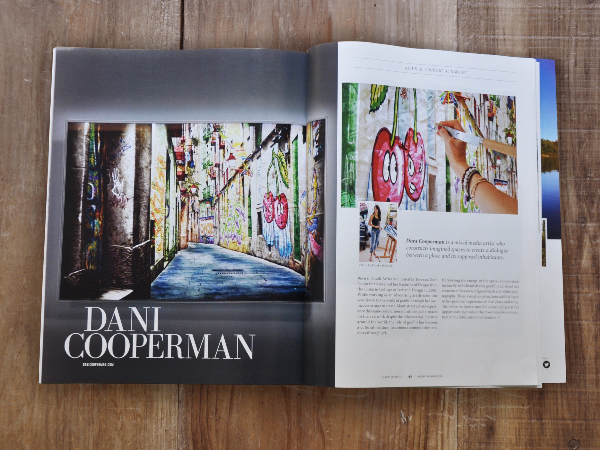 "LUXURY LISTED MAGAZINE FEATURE   ""Cooperman has taken graffiti art to a new level."""