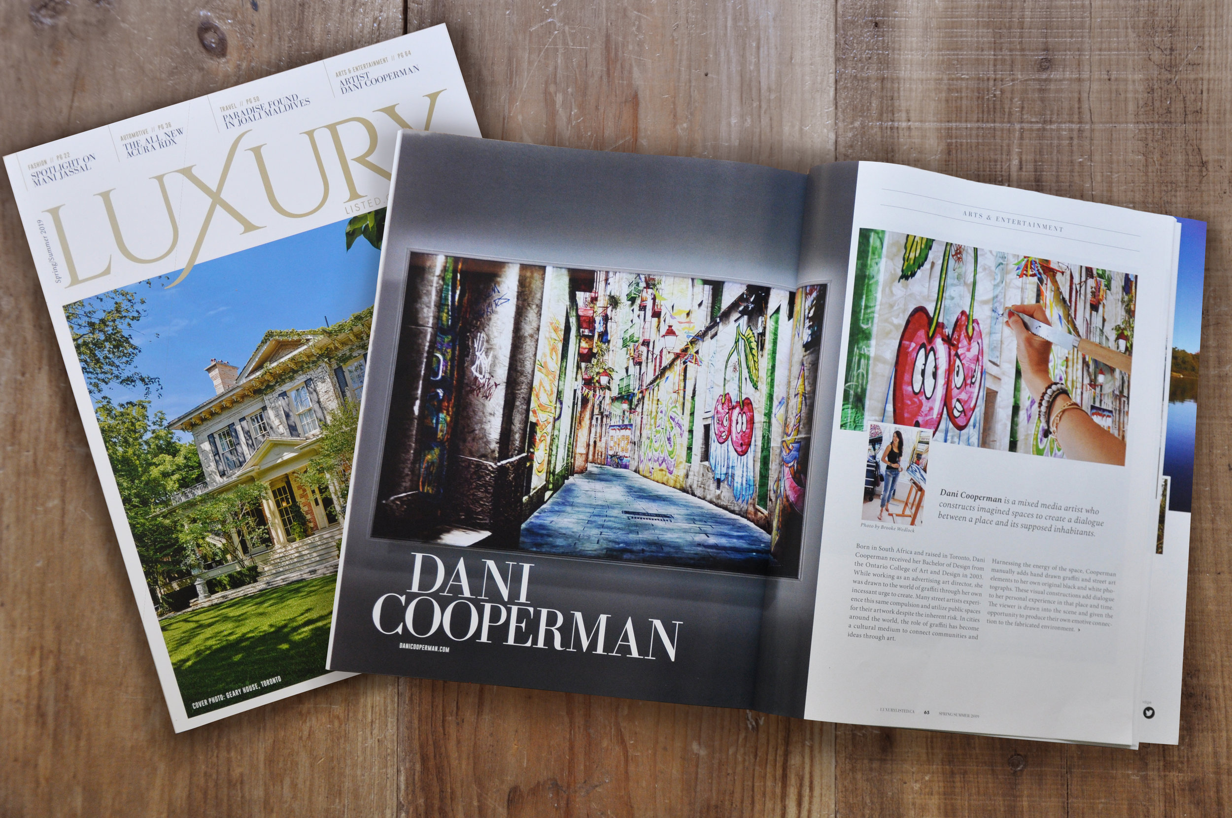 LUXURY LISTED MAGAZINE FEATURE