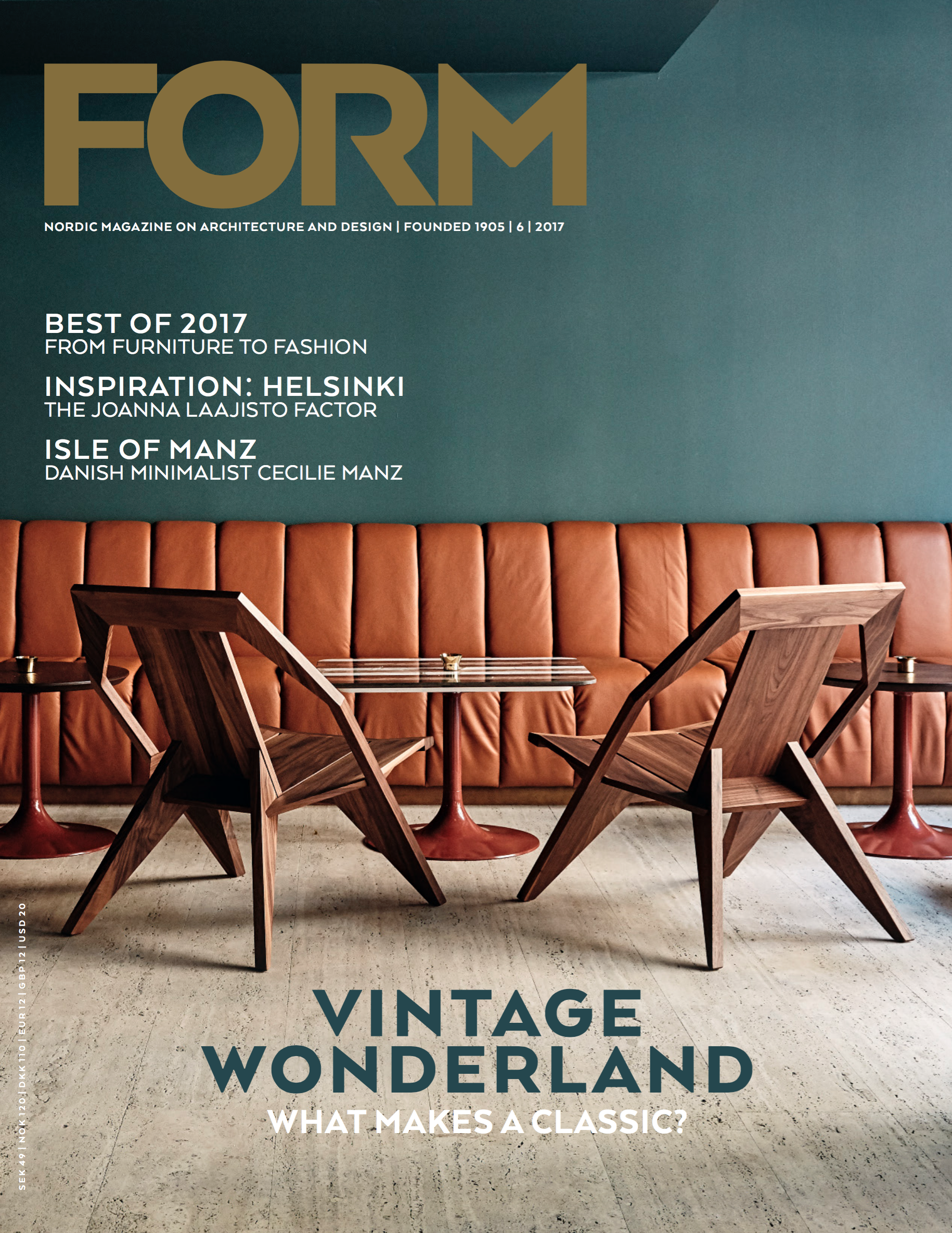 """February 2018  Kinnarps Group   Form Magazine   The Swedish magazine FORM has made a series of articles about Sweden as a design country - about """"Made in Sweden"""": the industry, the craft, the people and the places behind the successes."""
