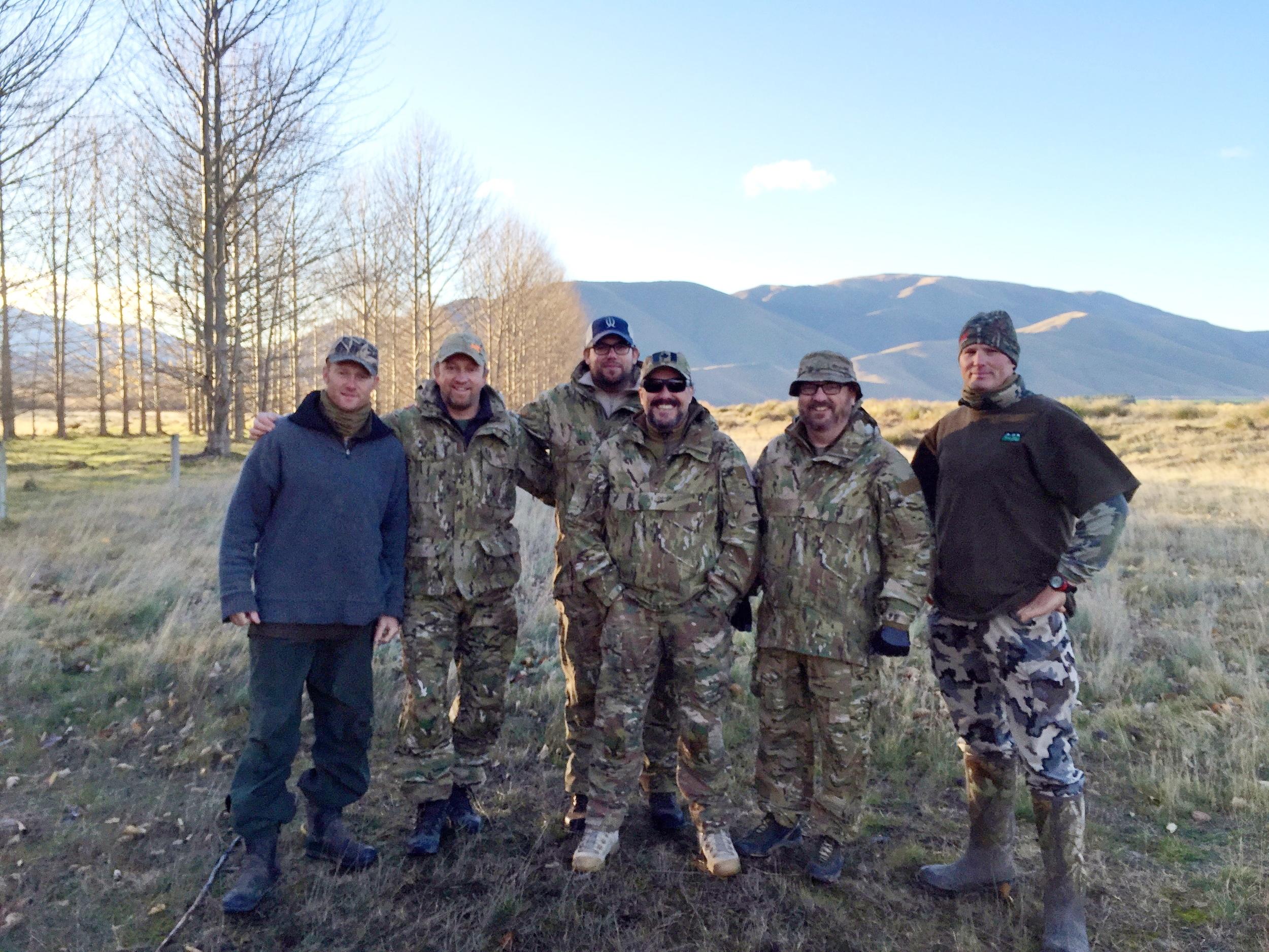 TYR Tactical Arizona group hunting with Woodbury Safari Lodge   Fraser Safaris New Zealand