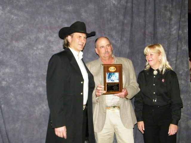 Alfred Luis receiving his Major Award at the SCI Convention for his muzzleloader Fallow buck hunted with us in New Zealand. Alfred owns Central Coast Outfitting in California.