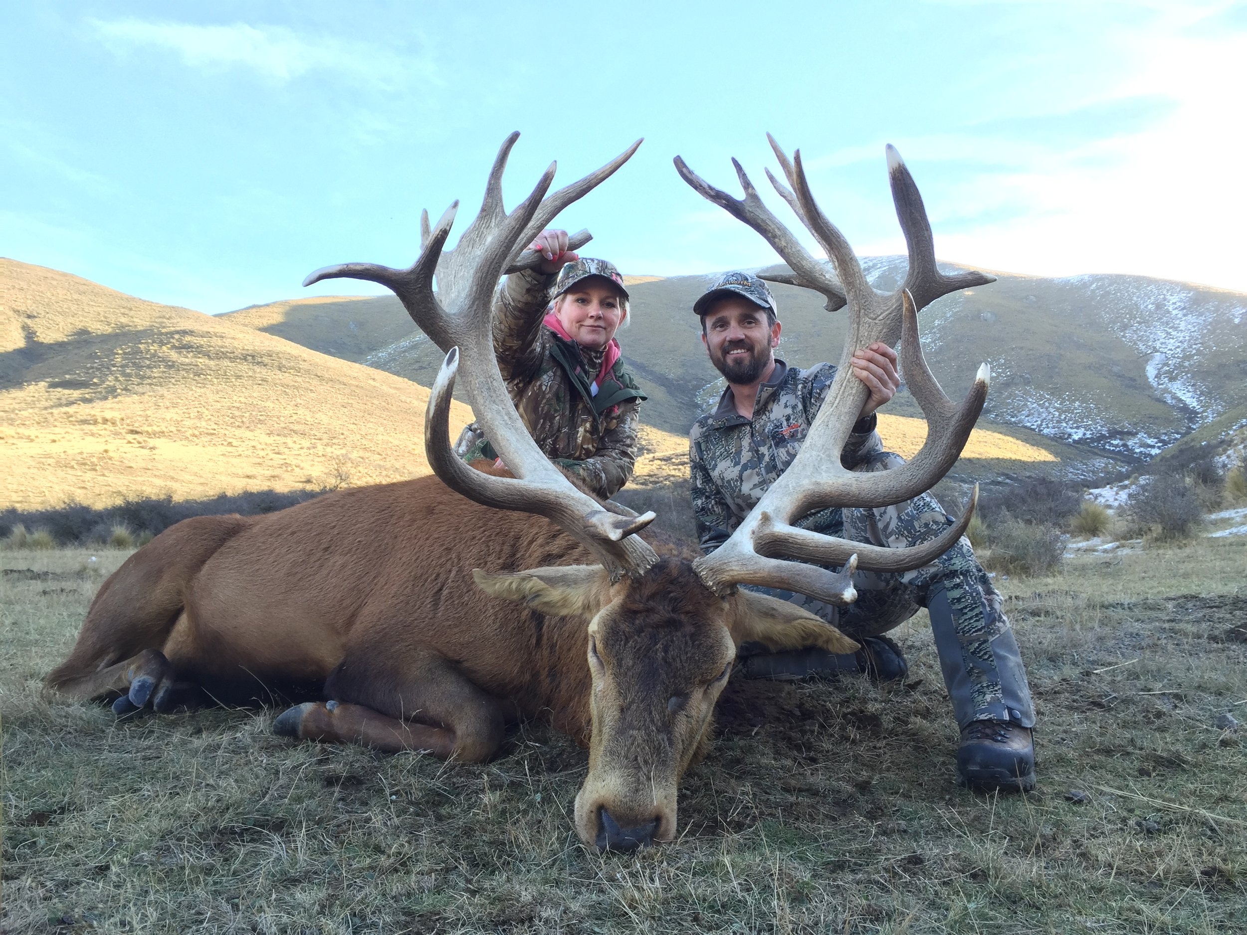 Stag hunt with Stuart & Cherie Farnsworth of Monarch Taxidermy, Montana, USA