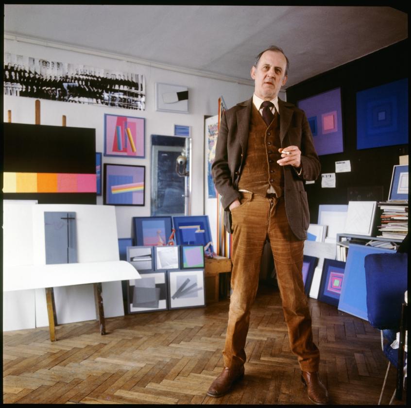 Edward Krasiński in his studio