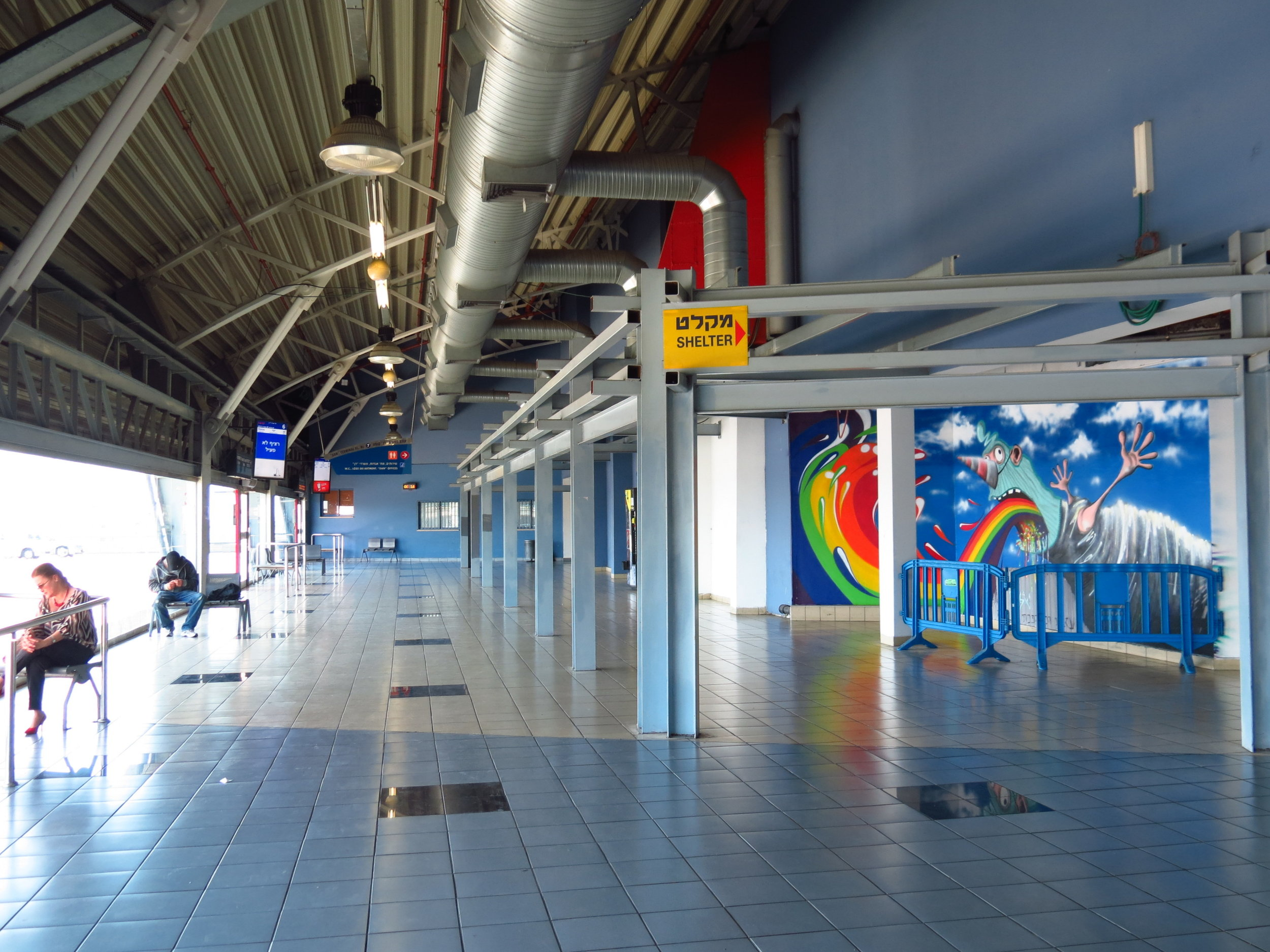 Street art on the station's 7th floor- pic: Mati Ale