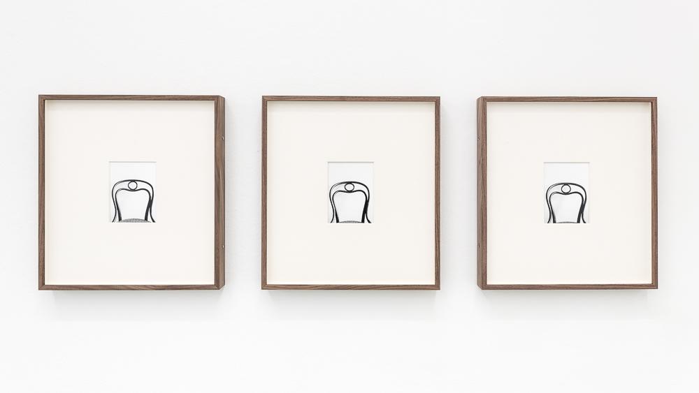 """Koenraad Dedobbeleer, """"Serve"""" 2016 triptych Courtesy of Mai 36, © Koenraad Debdobbeleer"""