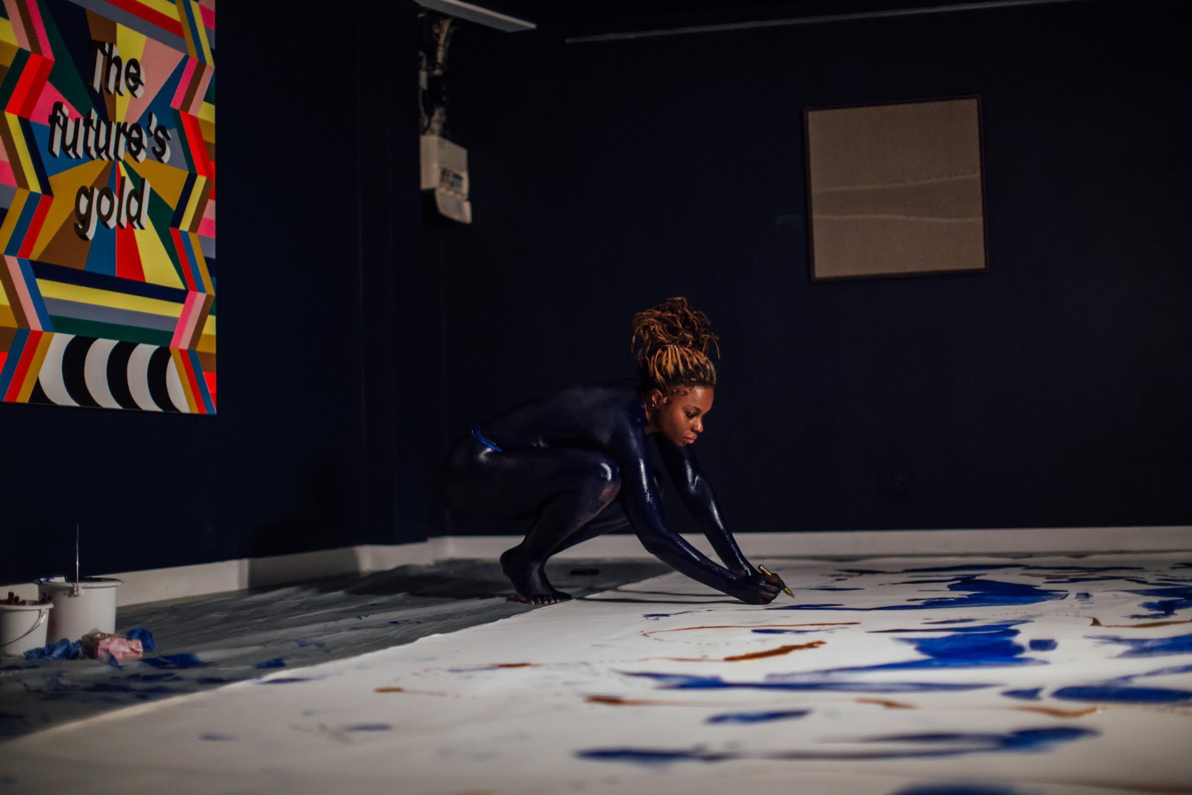 CREDIT:Artist Adelaide Damoah - UNFOLD Opening night