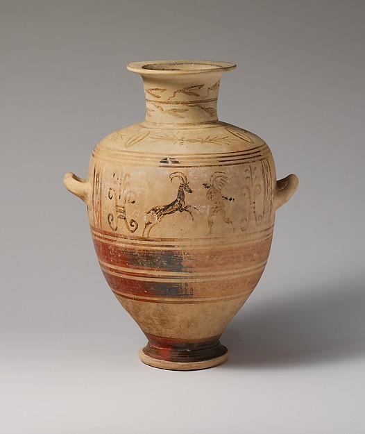 Hellenistic Terracotta Hadra hydria. Image:  The Met