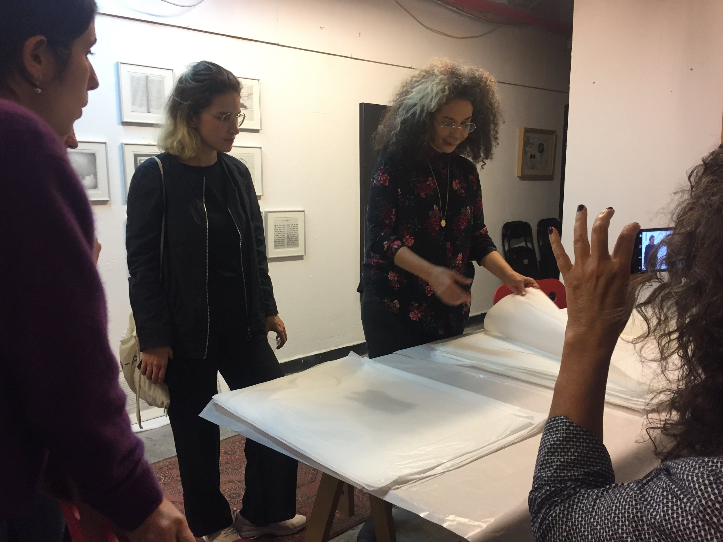 Attoun in her studio in Tel Aviv