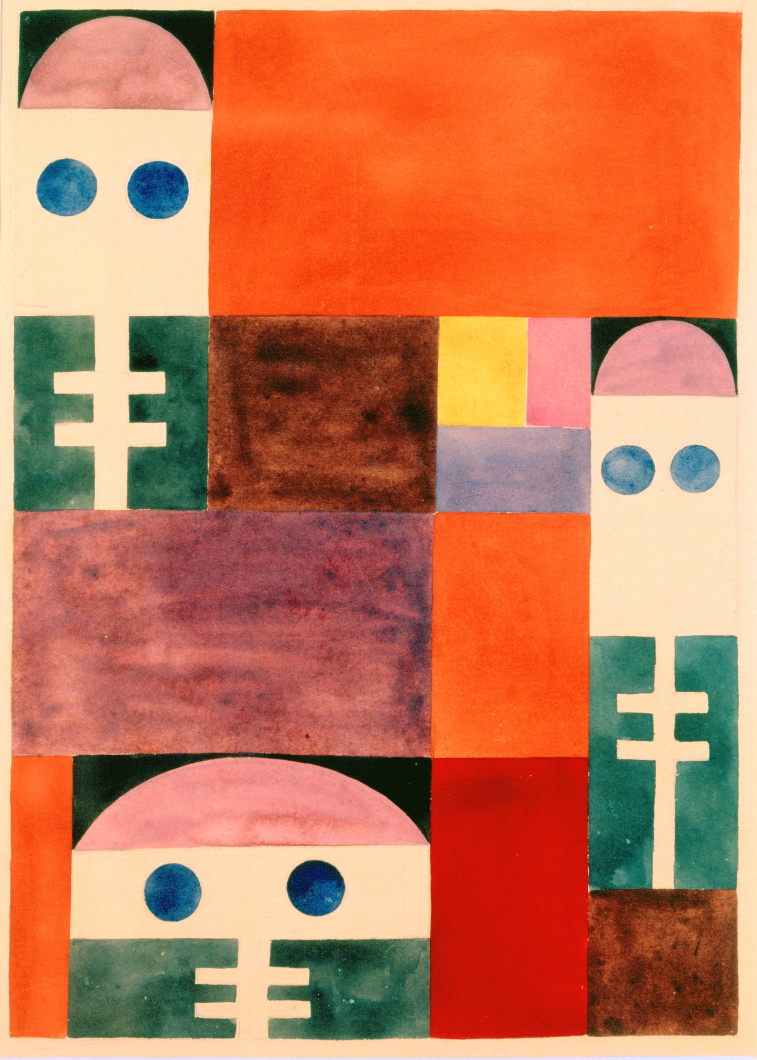 Sophie Taeuber-Arp (1889-1943), Motifs abstraits (masques) , 1917 Stiftung Arp e.V., Rolandswerth/Berlin © Stiftung Arp e.V., Berlin / Rolandswerth. Wolfgang Morell
