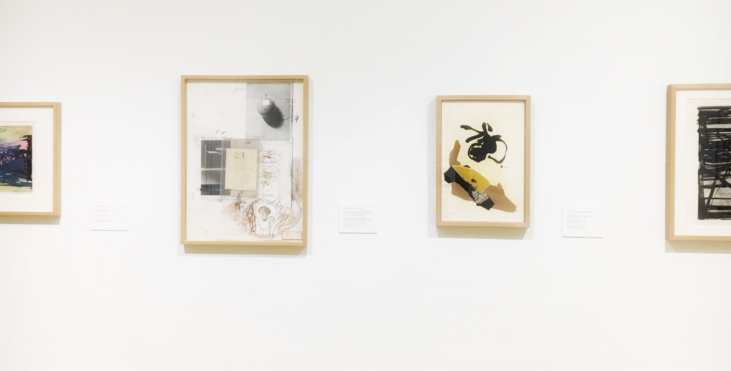 Works by Cy Twombly & Robert Motherwell at Bilbao Fine Arts Museum