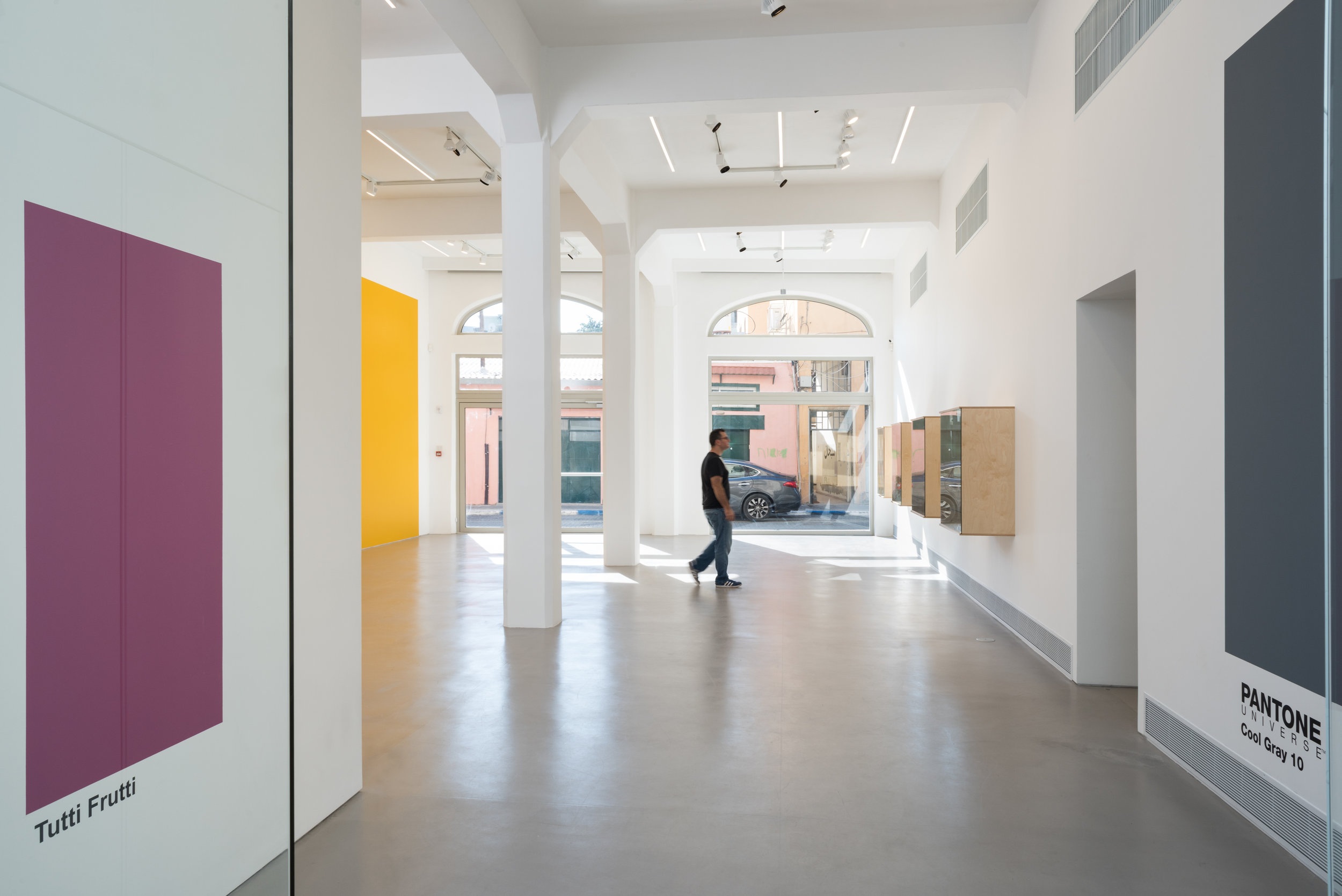 Installation view of  zerubbabel . Image by Youval Hai