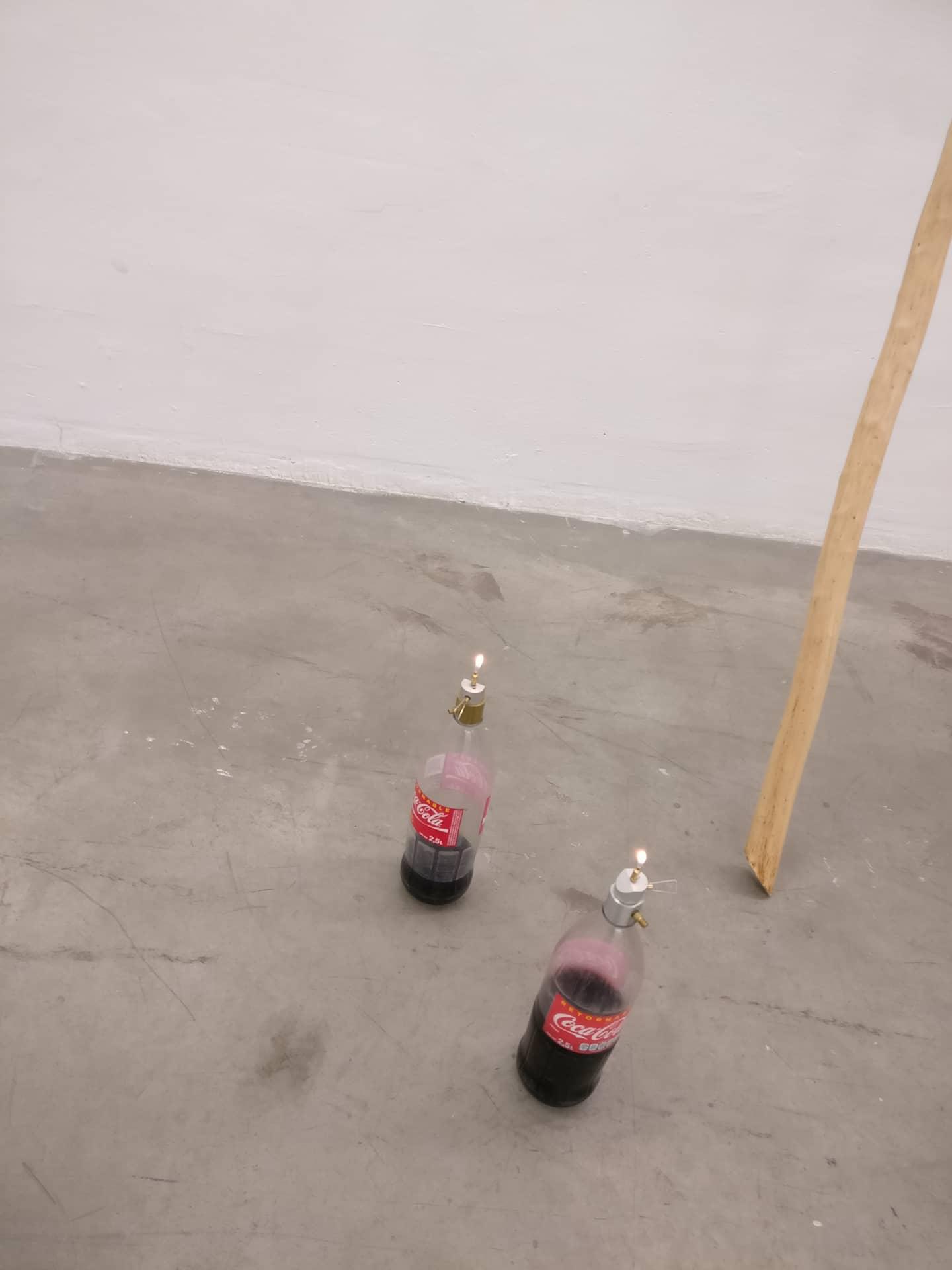 Image: Installation view, Ariel Schlesinger & Wilfredo Prieto at Nogueras Blanchard