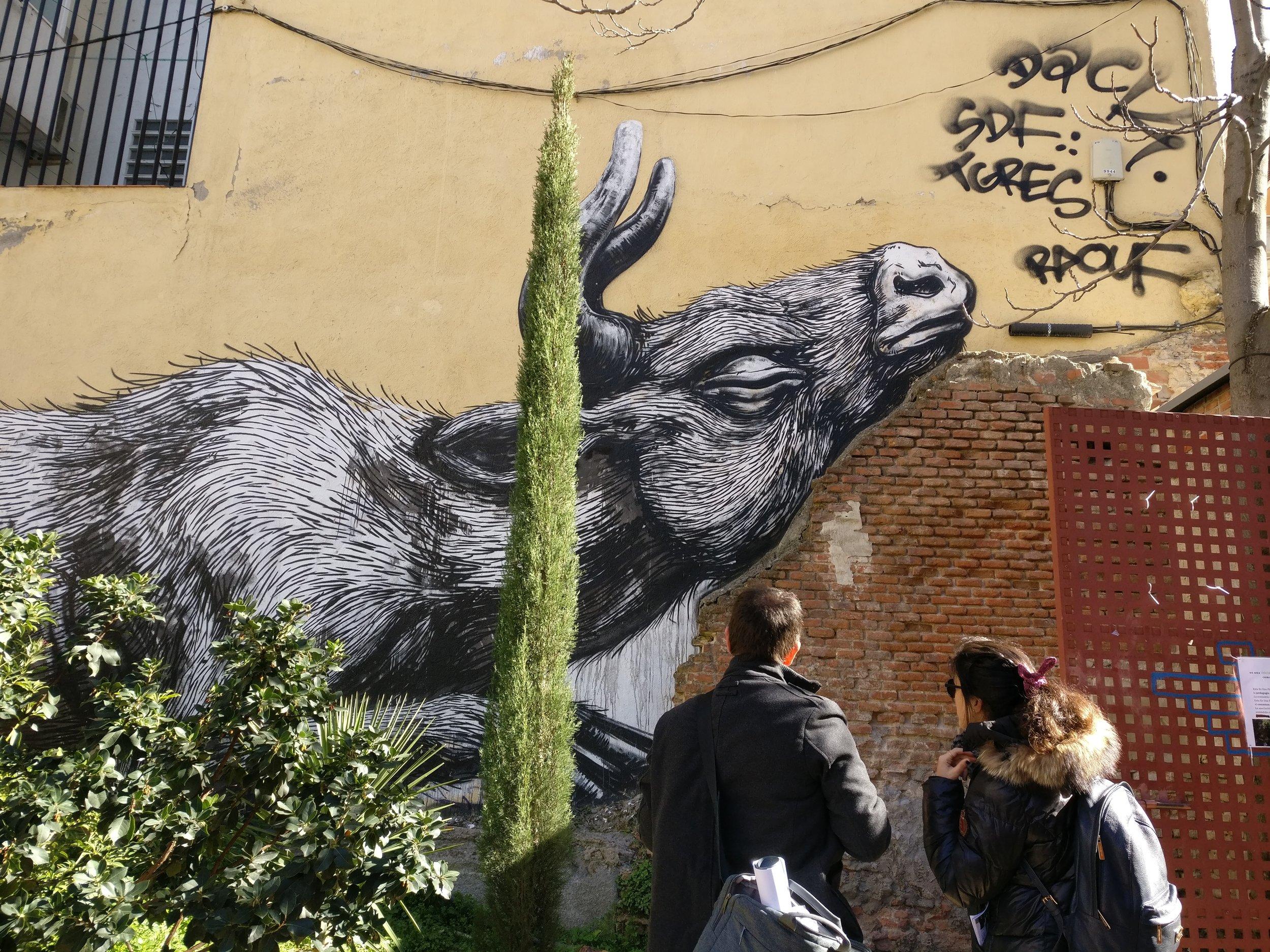 graffiti in the Lavapiez neighborhood