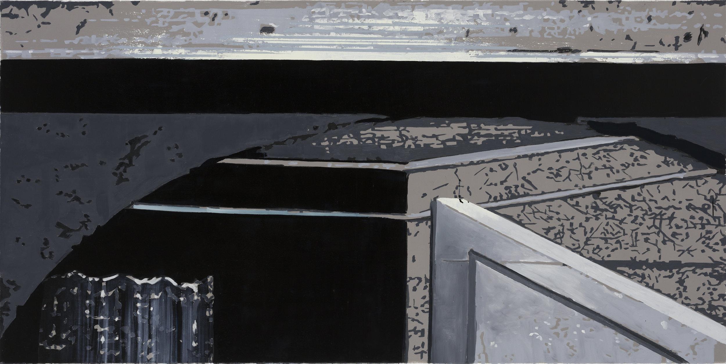 Oren Eliav, Corner, Oil on canvas
