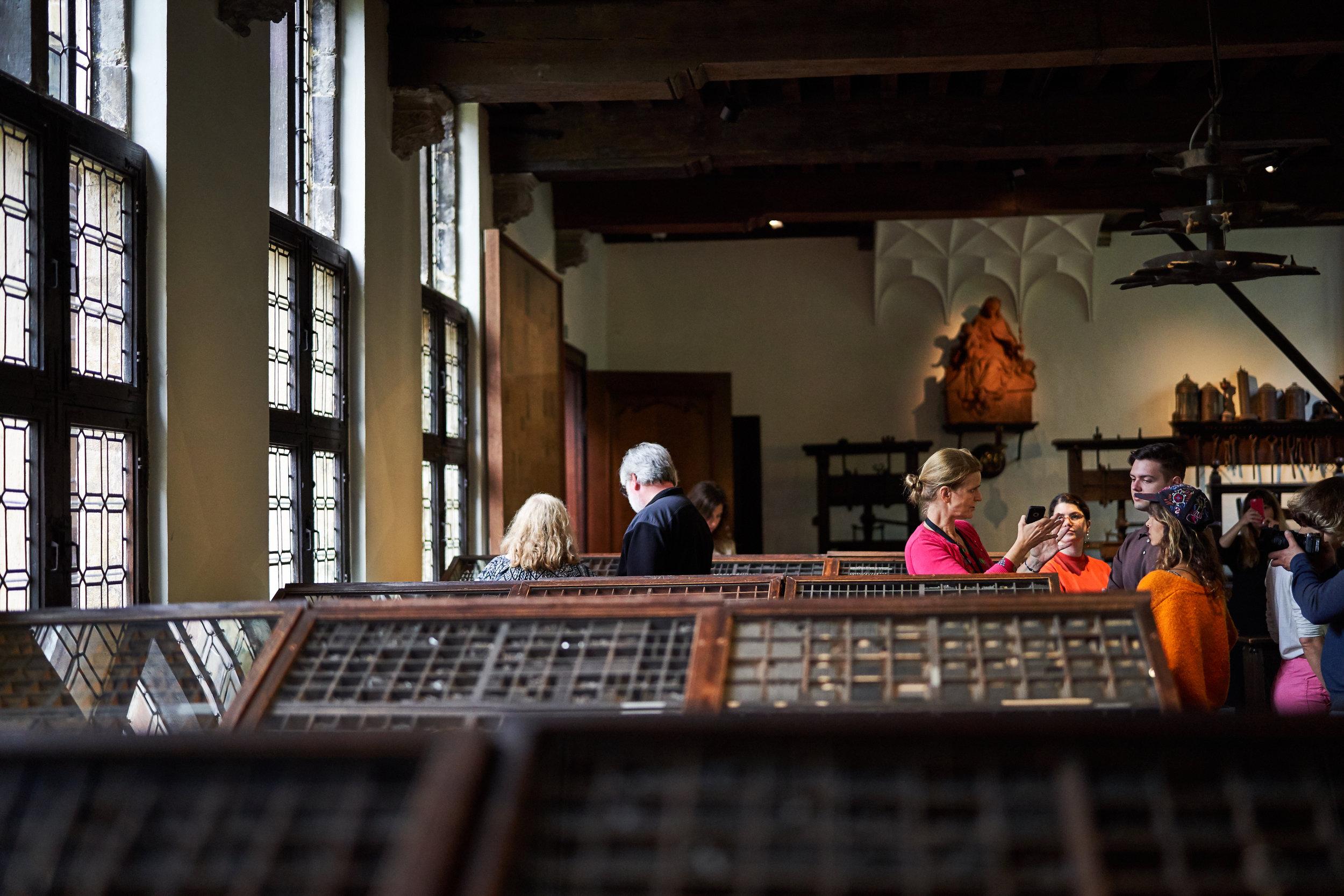 Plantin-Moretus Printing Museum.Photo by  Niko Caignie .