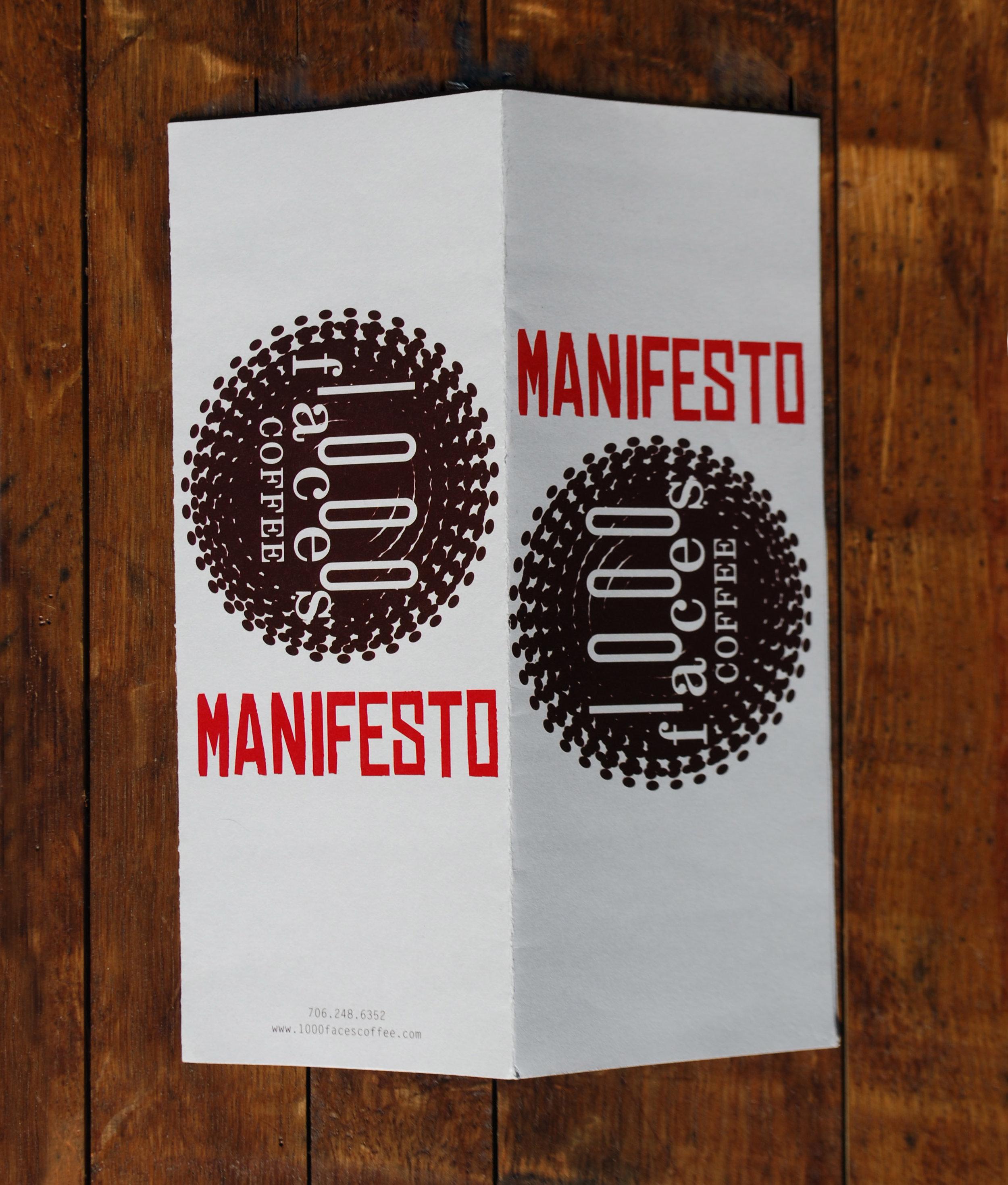 first opening, menu + manifesto